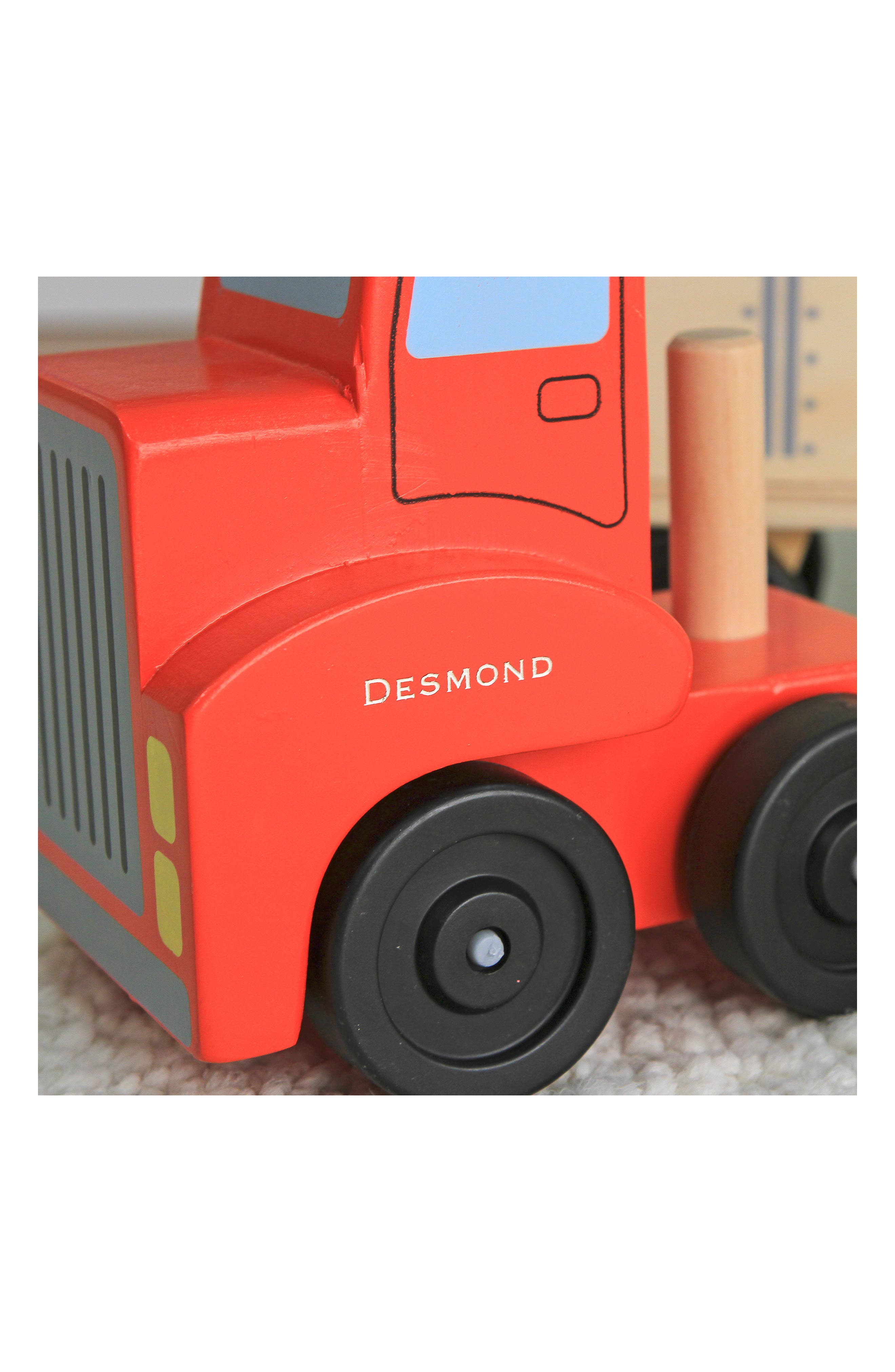 'Big Rig' Personalized Building Set,                             Alternate thumbnail 3, color,                             RED