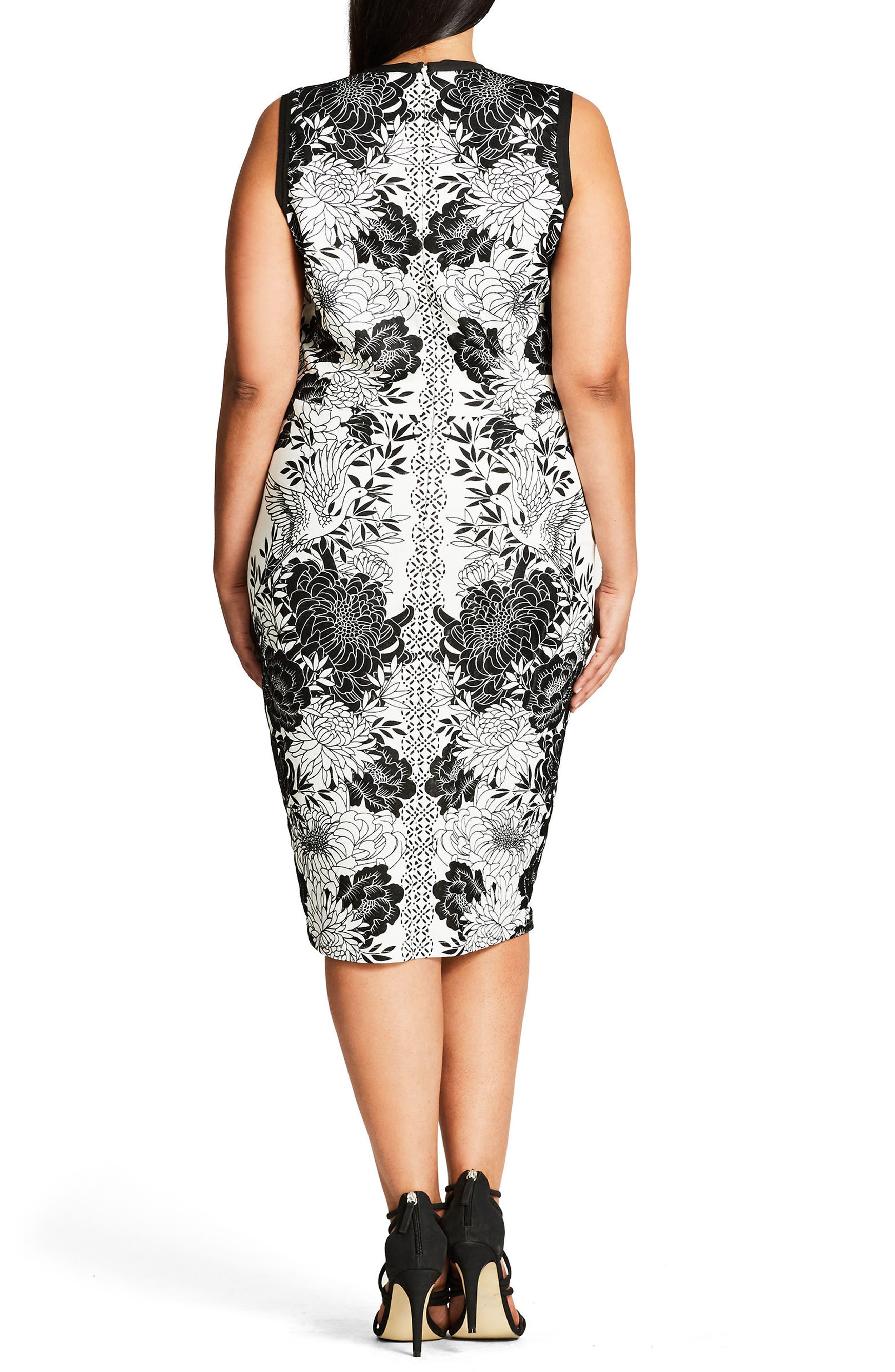 Baroque Sheath Dress,                             Alternate thumbnail 3, color,                             903