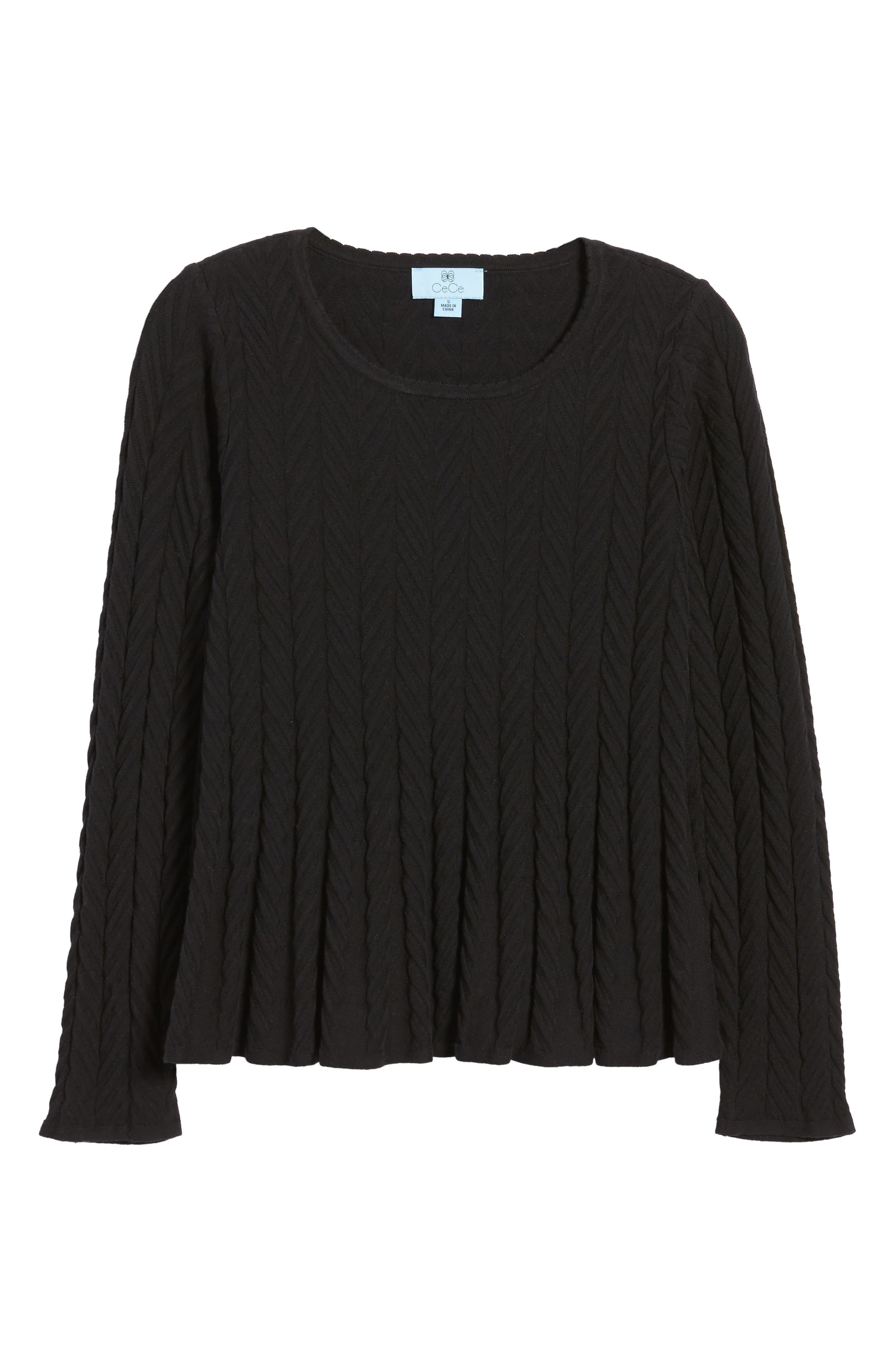 Chevron Stitch Sweater,                             Alternate thumbnail 6, color,                             010