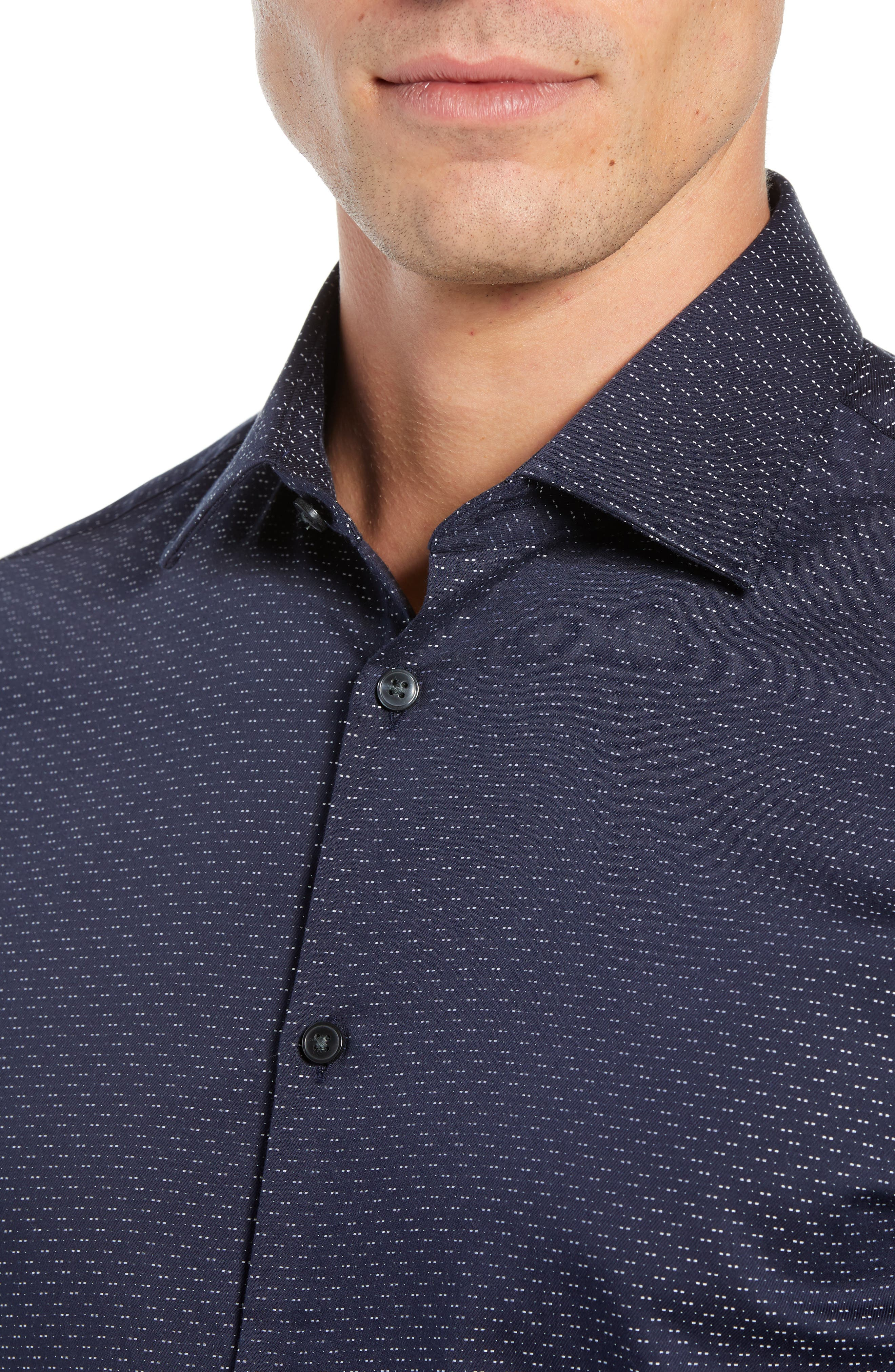 Regular Fit Print Sport Shirt,                             Alternate thumbnail 2, color,                             INDIGO