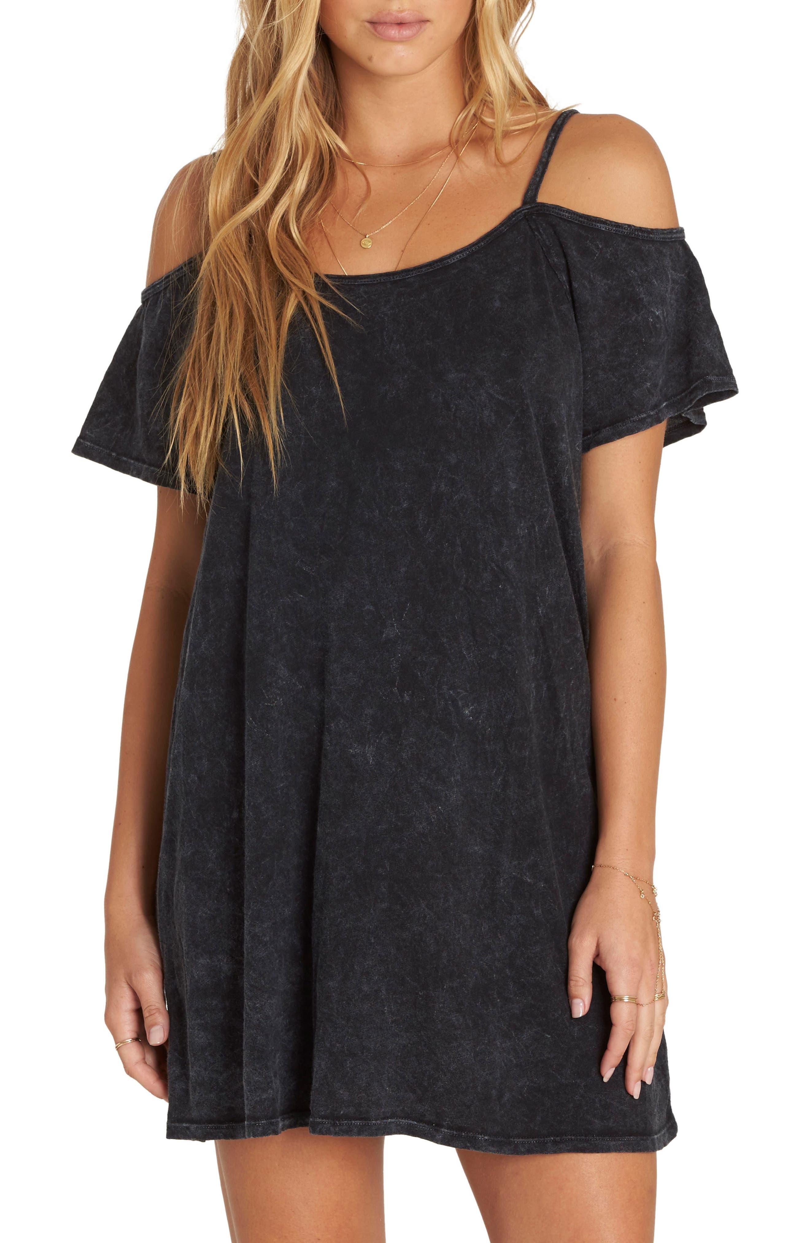 New Romance Cold Shoulder Dress,                         Main,                         color, 001