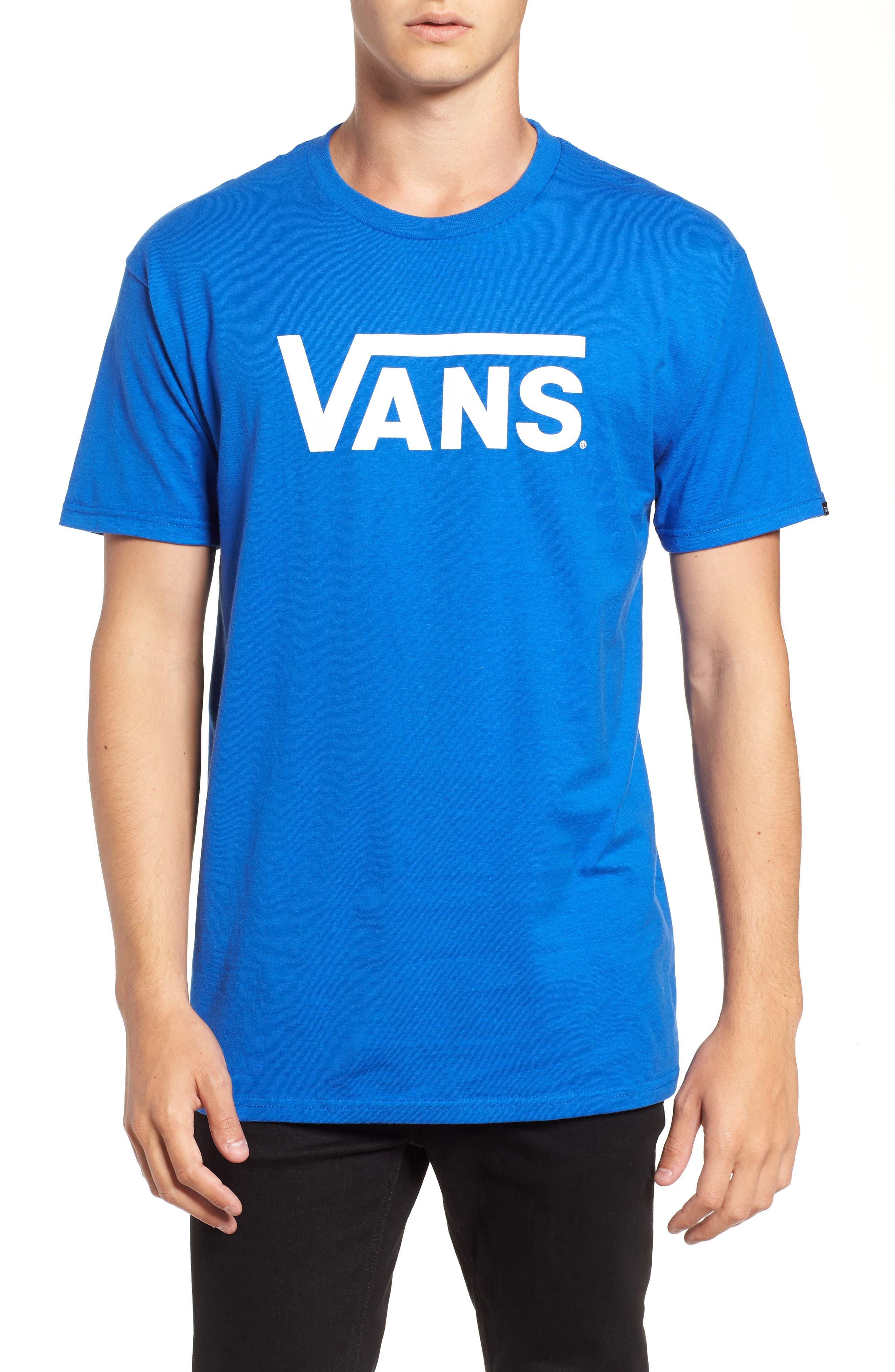 Classic Logo T-Shirt,                             Main thumbnail 1, color,                             ROYAL/ WHITE