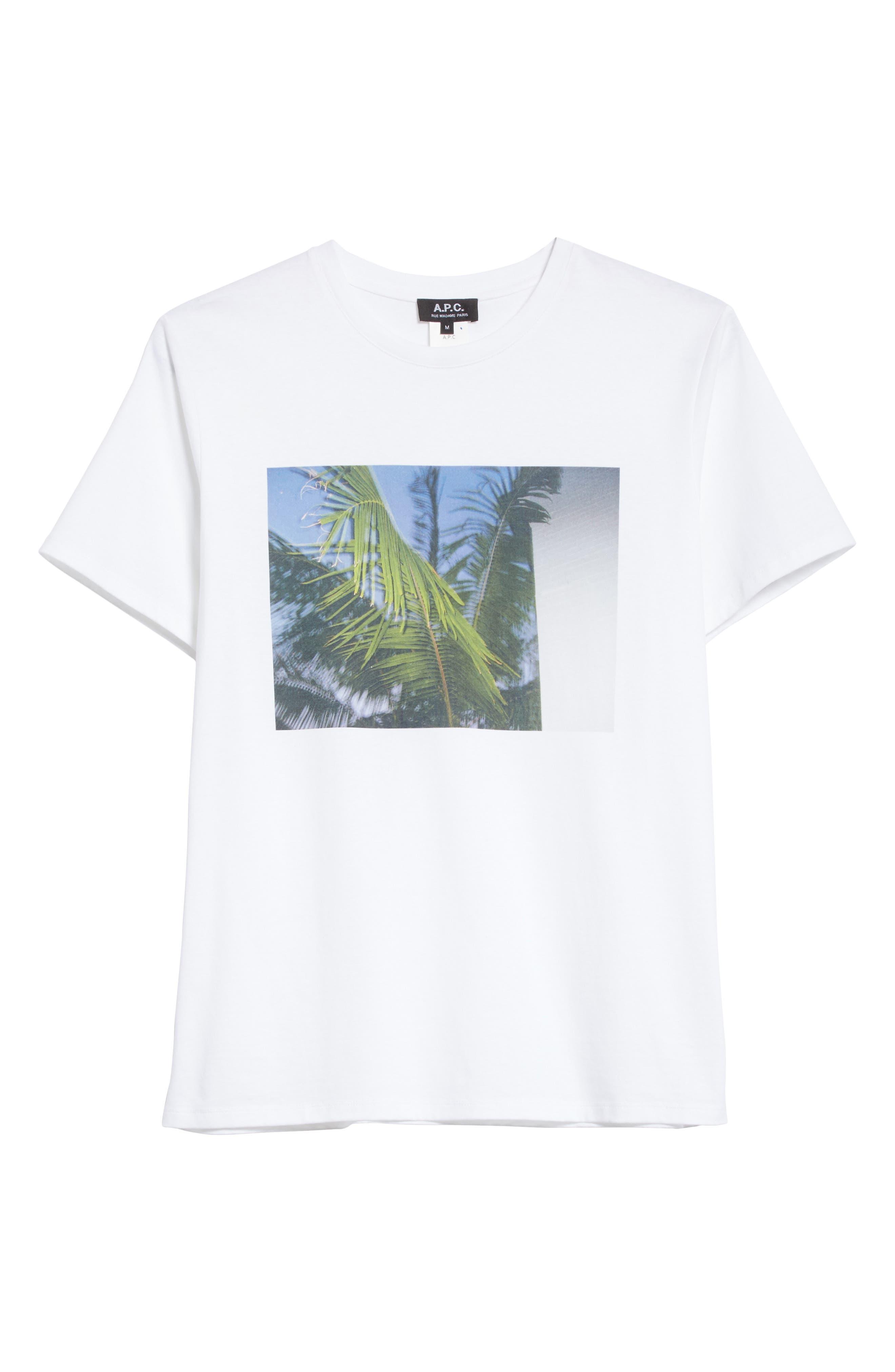 Palm Tree Graphic T-Shirt,                             Alternate thumbnail 6, color,