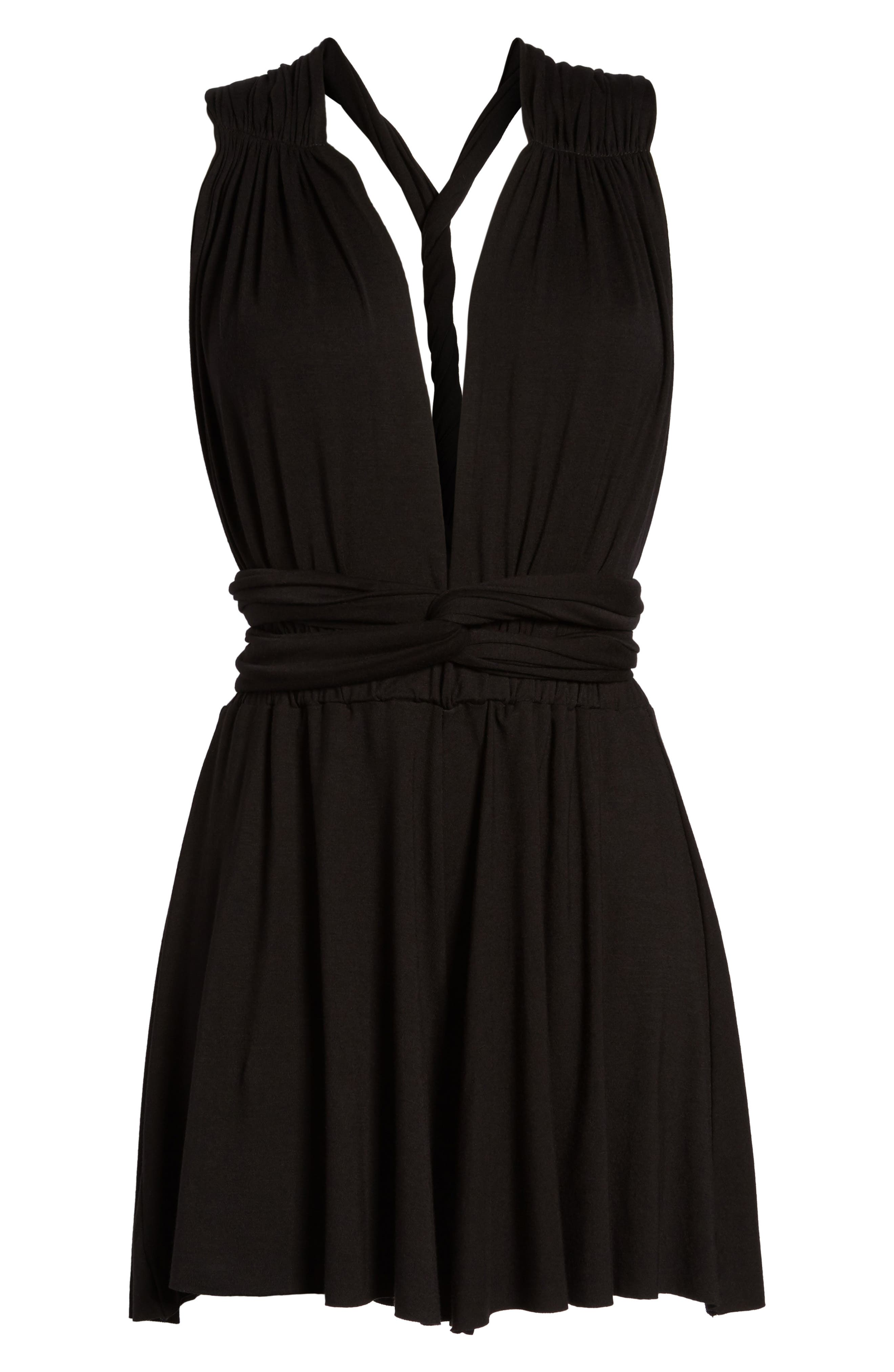 Convertible Cover-Up Romper,                             Alternate thumbnail 2, color,                             001
