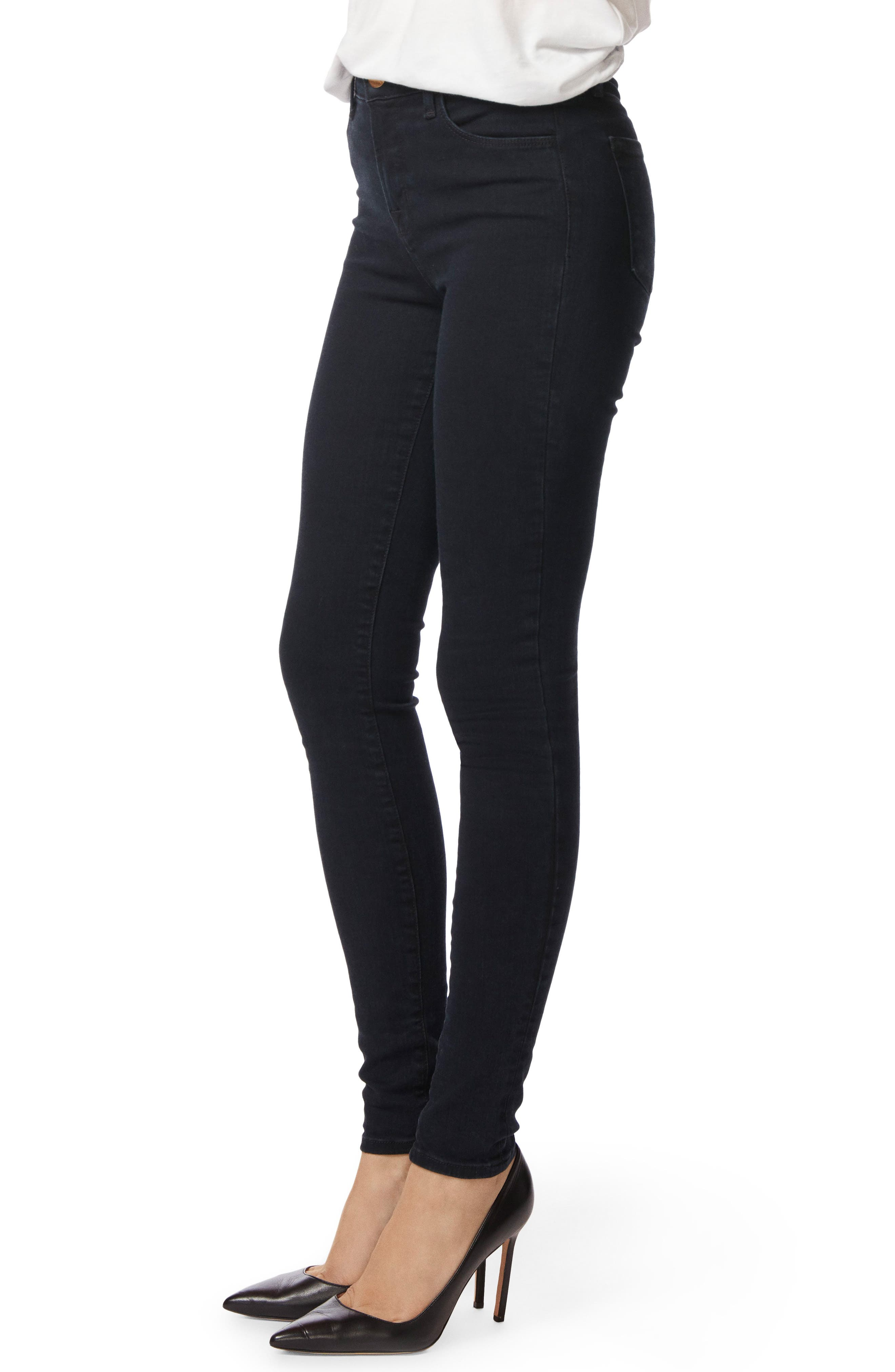Maria High Waist Skinny Jeans,                             Alternate thumbnail 3, color,                             BLUEBIRD