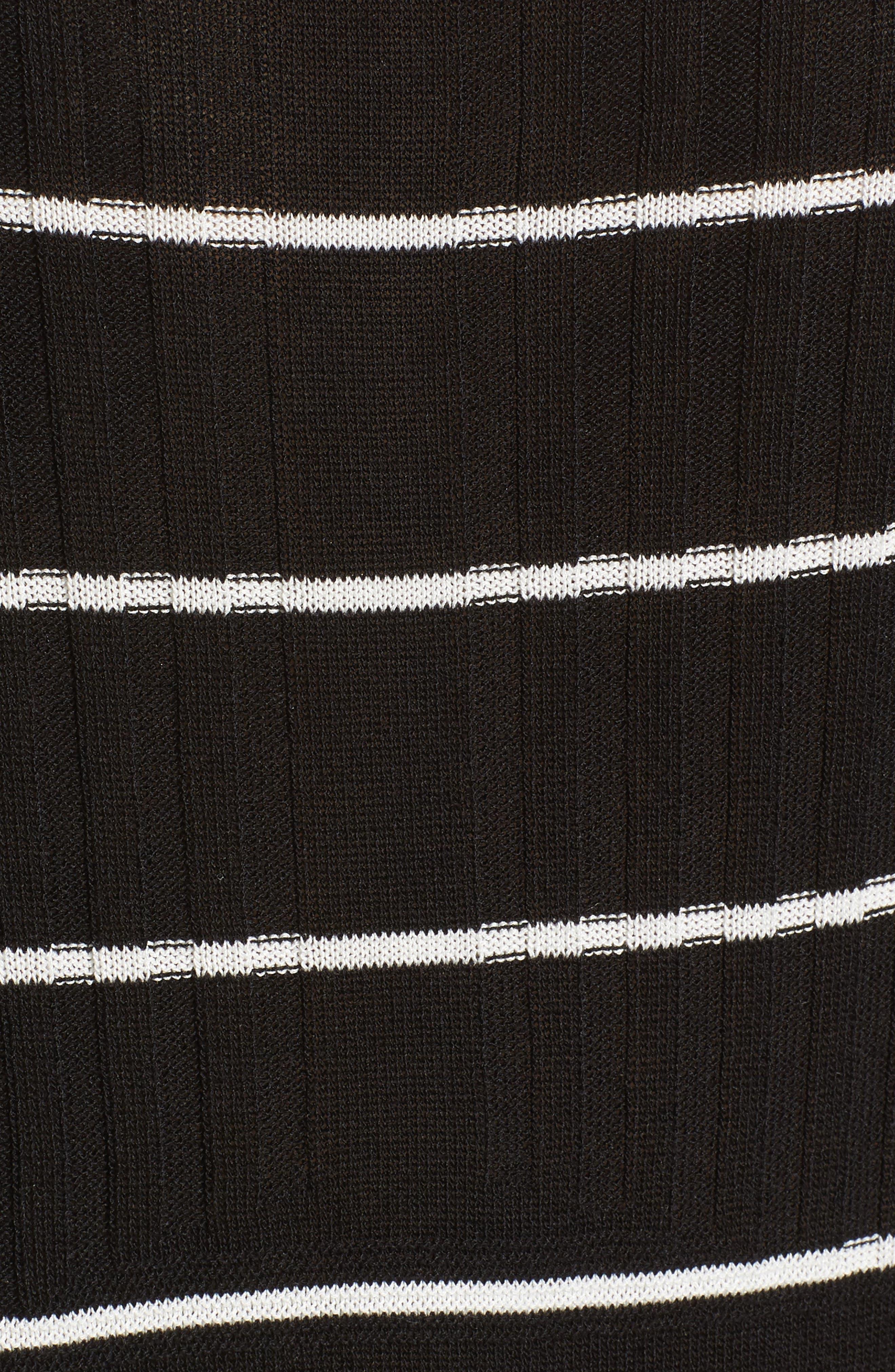 Sumo Stripe Sweater,                             Alternate thumbnail 5, color,                             BLACK