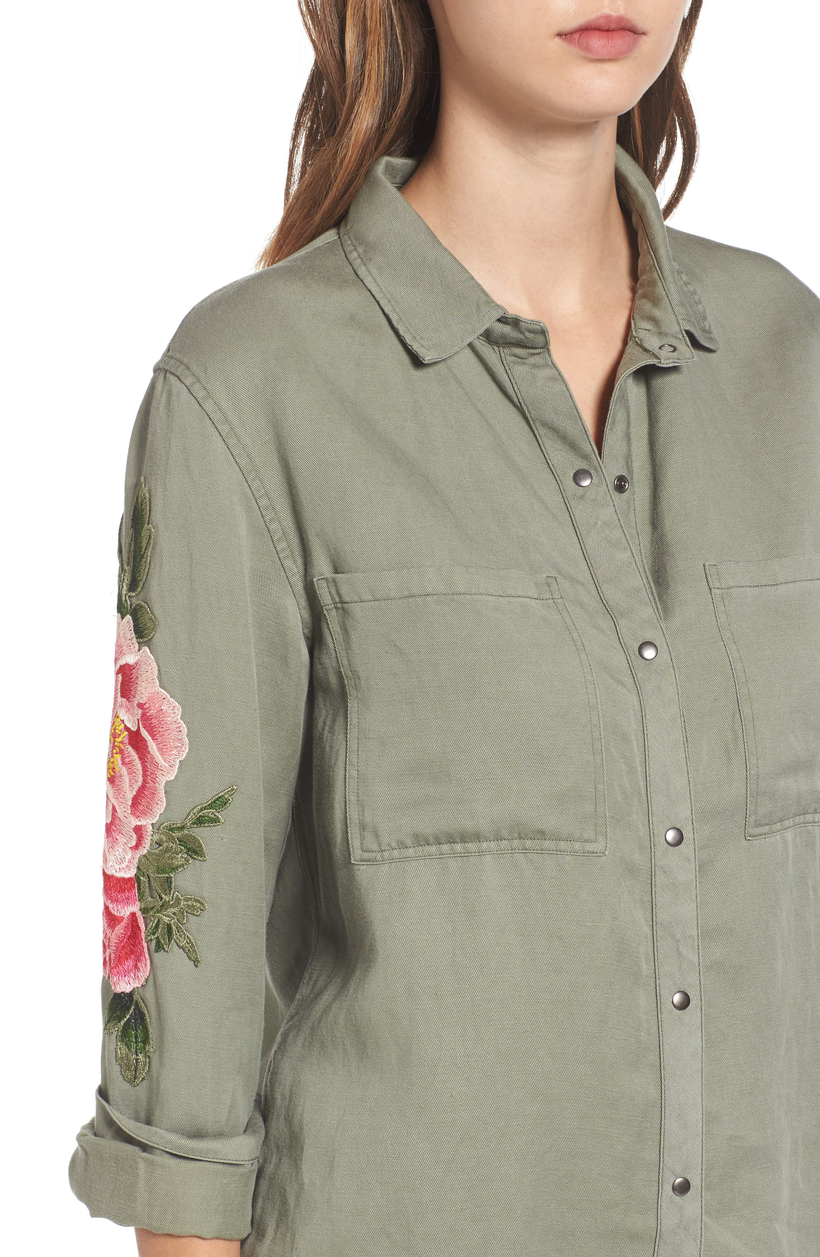 Marcel Embroidered Shirt,                             Alternate thumbnail 4, color,                             302