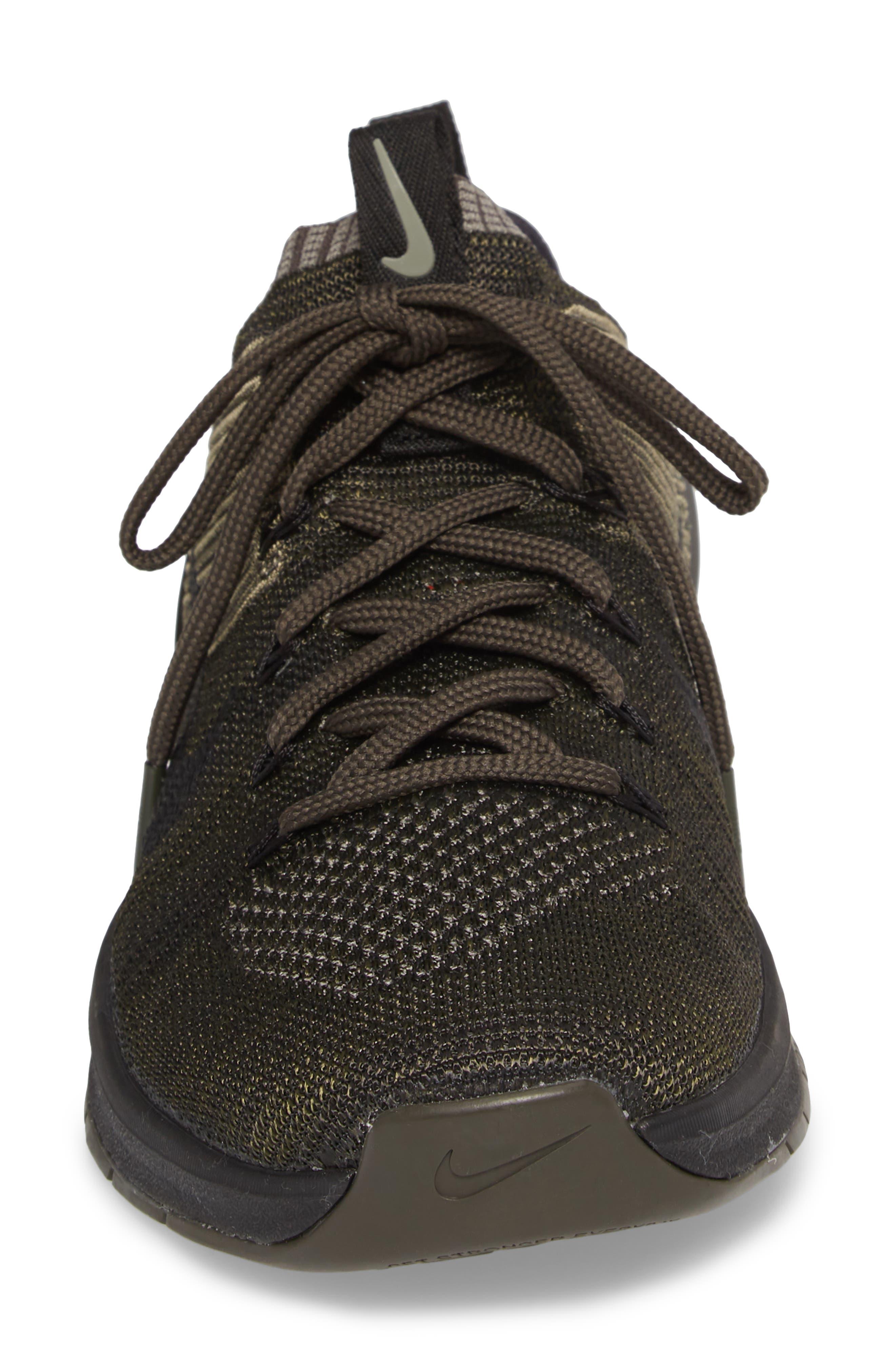 Metcon DSX Flyknit 2 Training Shoe,                             Alternate thumbnail 4, color,                             DARK STUCCO/ BLACK/ NEWSPRINT
