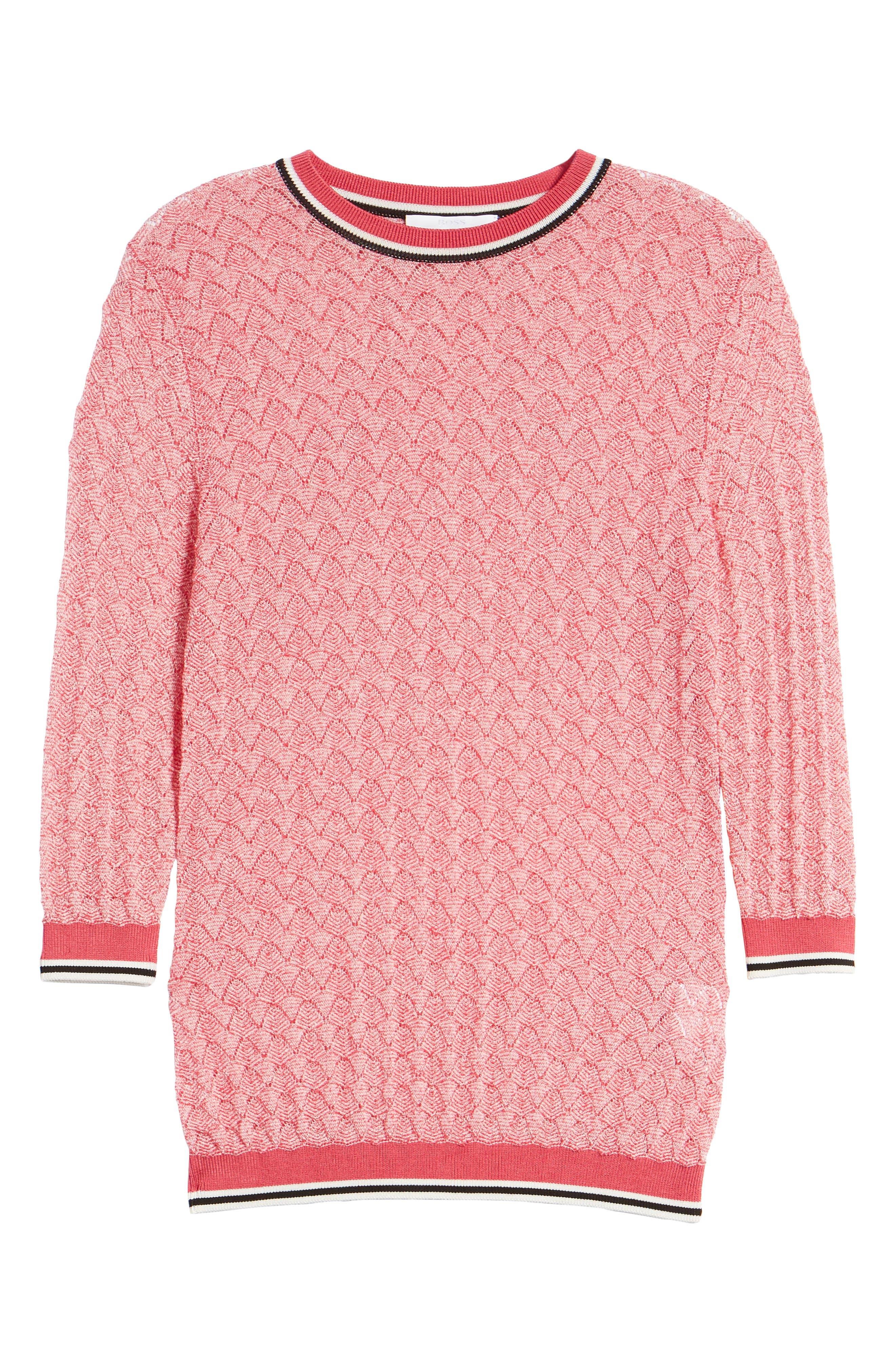 BOSS,                             Basket Weave Sweater,                             Alternate thumbnail 7, color,                             675