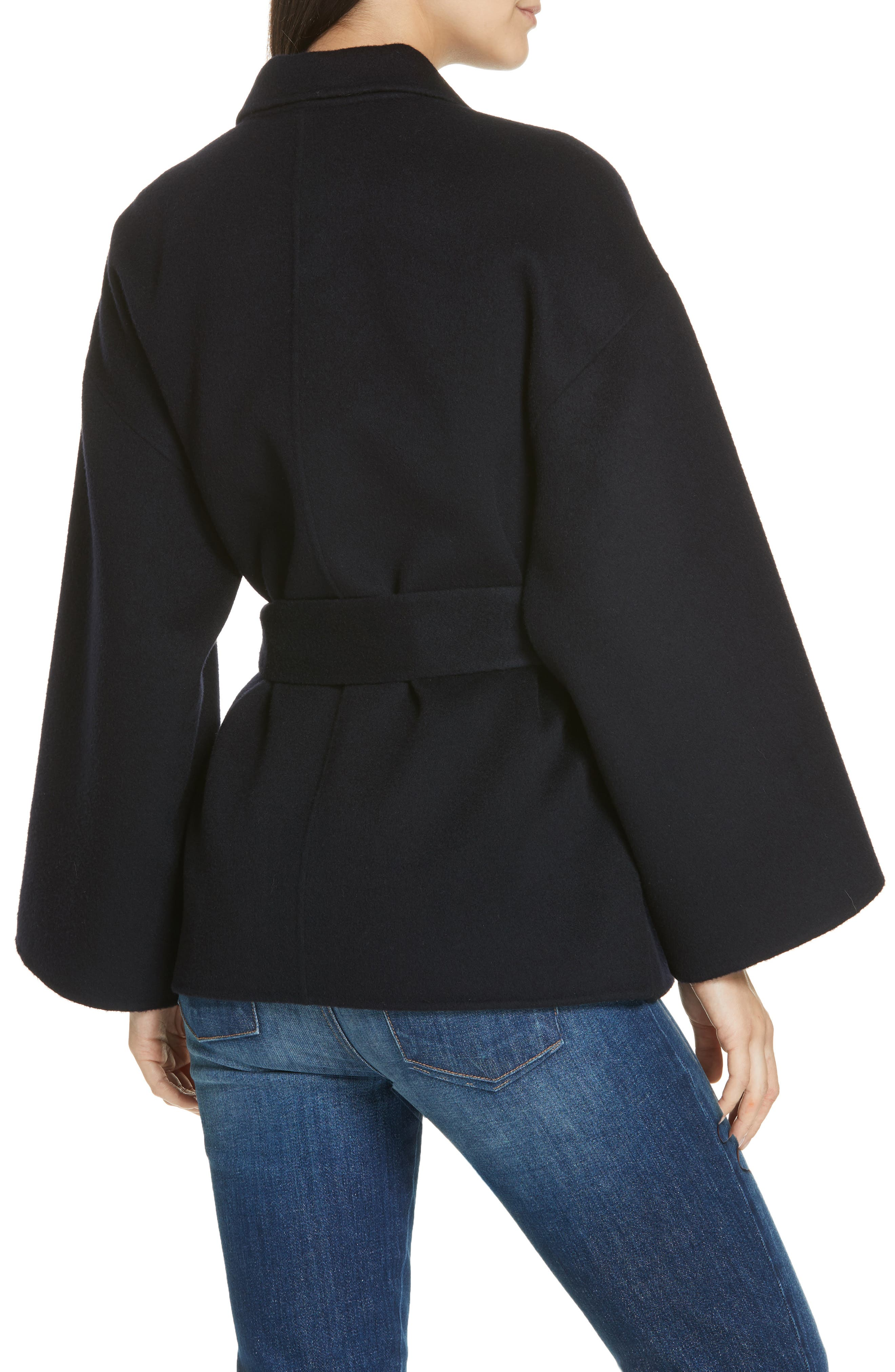 Wool & Cashmere Belted Jacket,                             Alternate thumbnail 2, color,                             400