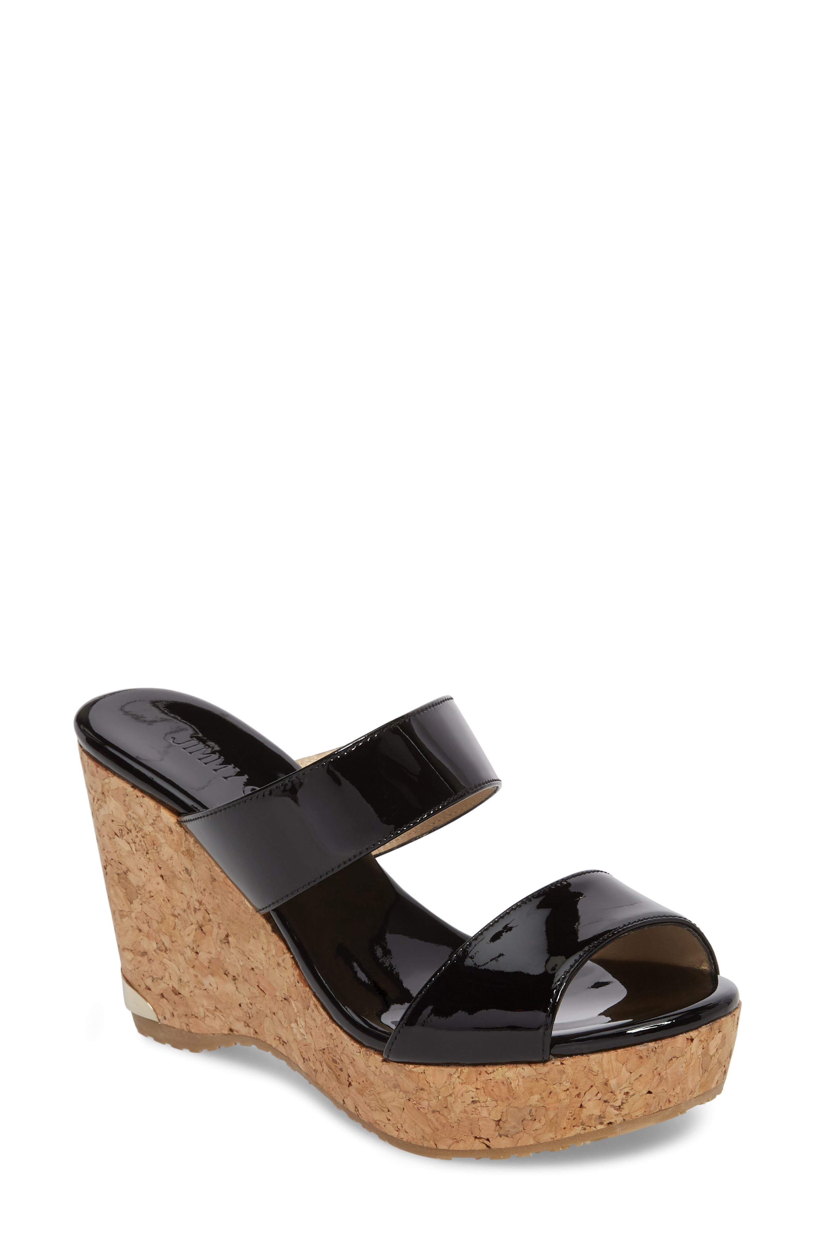 Parker Sandal,                             Main thumbnail 1, color,                             BLACK