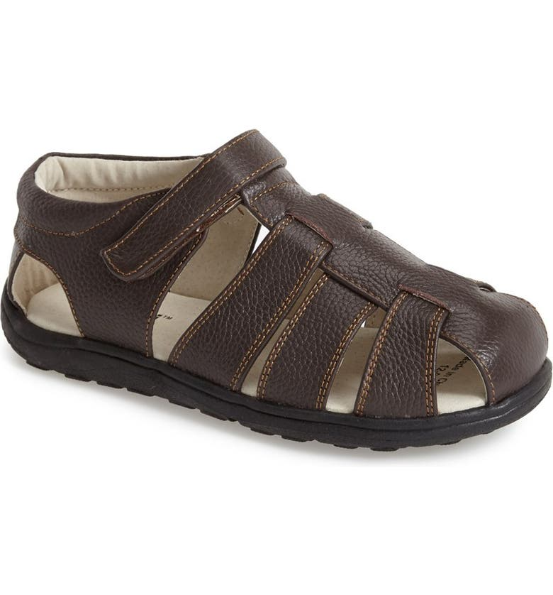 See Kai Run  Dillon II  Leather Fisherman Sandal (Toddler   Little ... 5e5f67b0f382