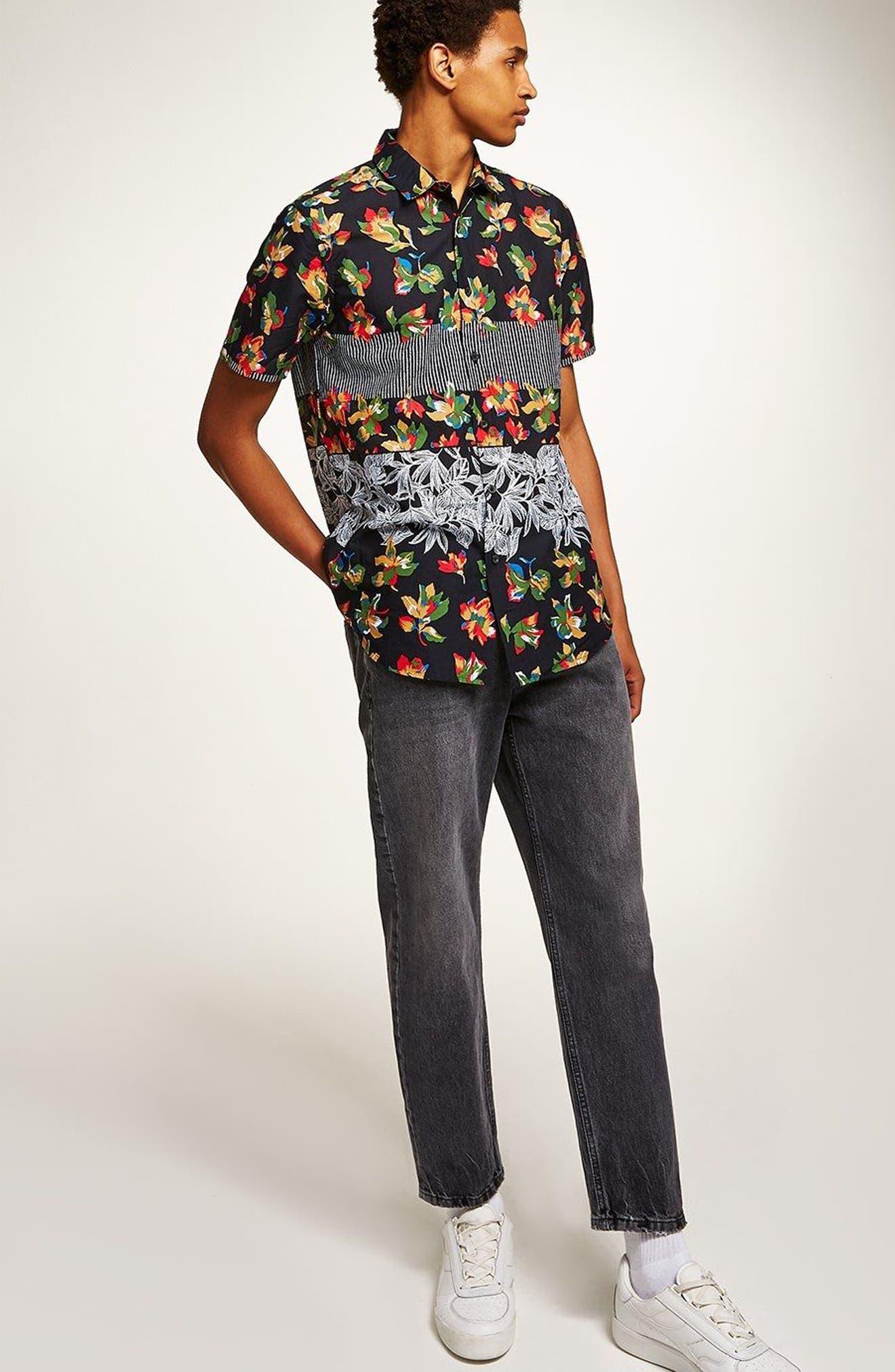 Multi Print Shirt,                             Alternate thumbnail 5, color,                             001