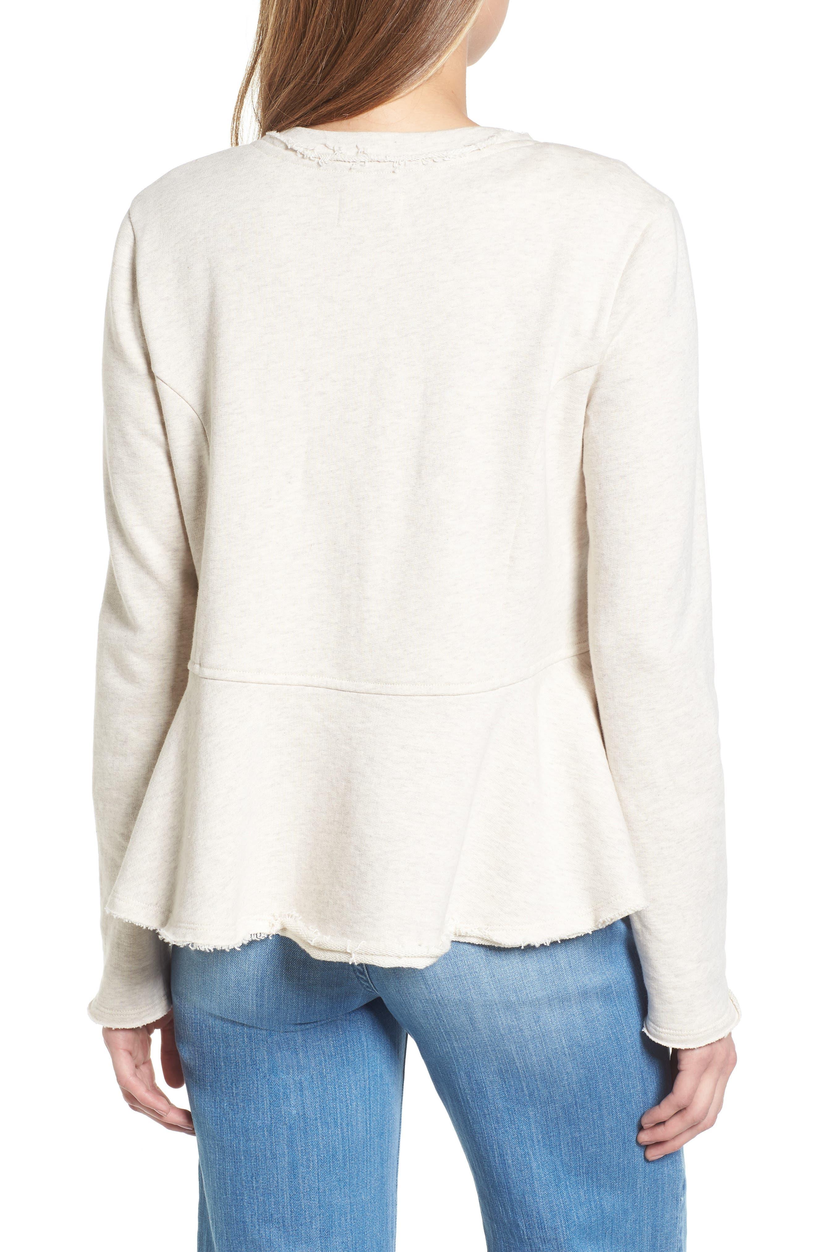 Knit Peplum Jacket,                             Alternate thumbnail 8, color,