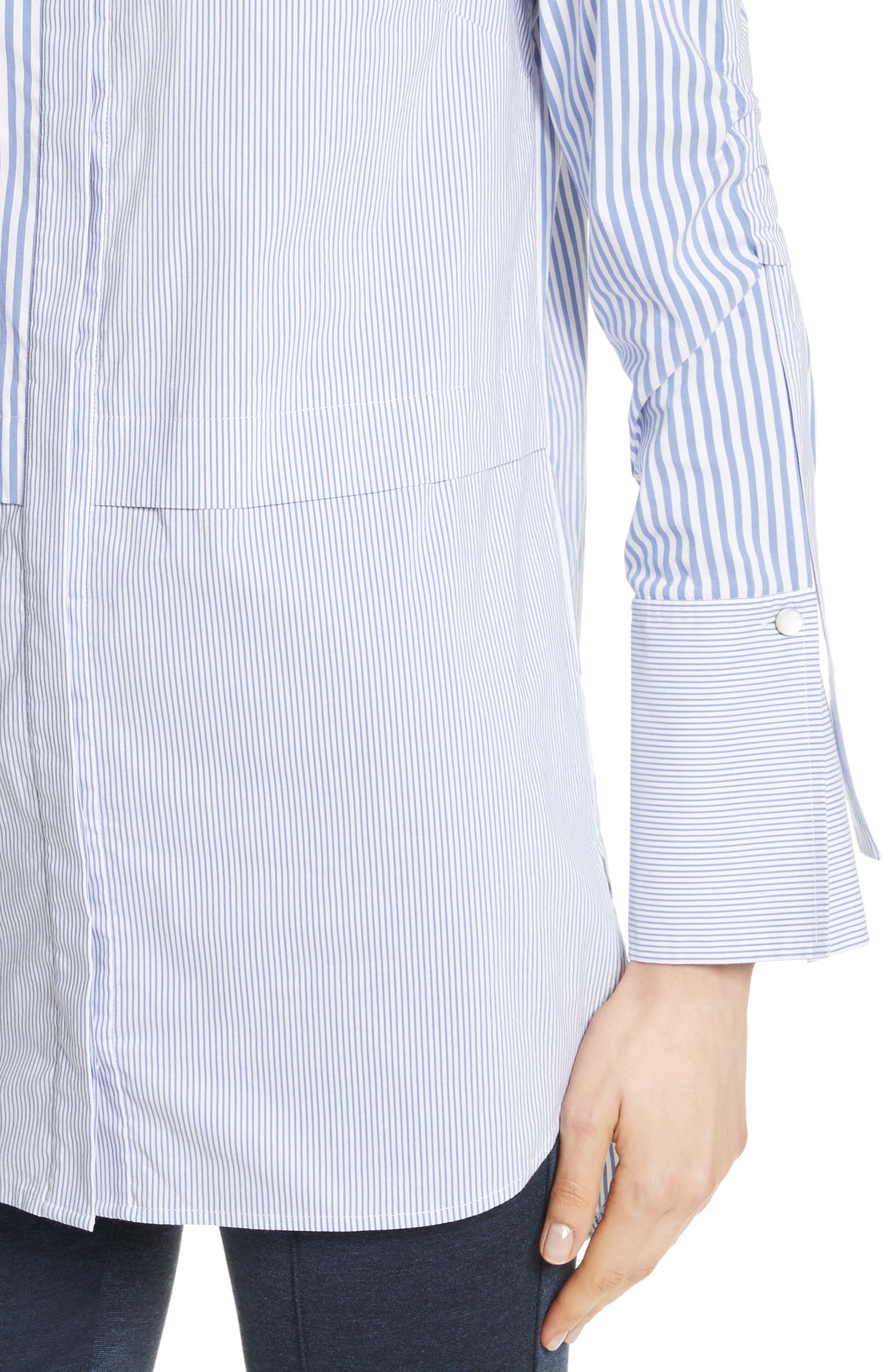 Striped Shirting Tunic,                             Alternate thumbnail 5, color,
