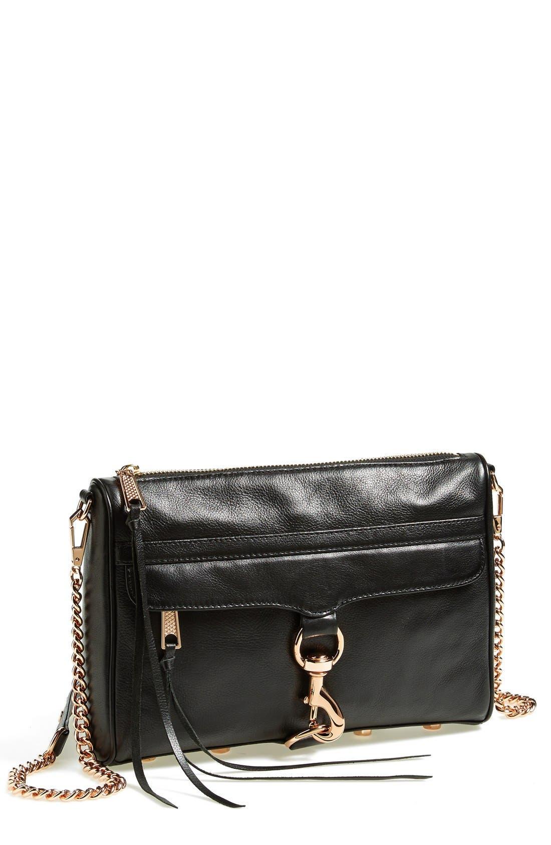 REBECCA MINKOFF 'MAC Clutch' Crossbody Bag, Main, color, 001
