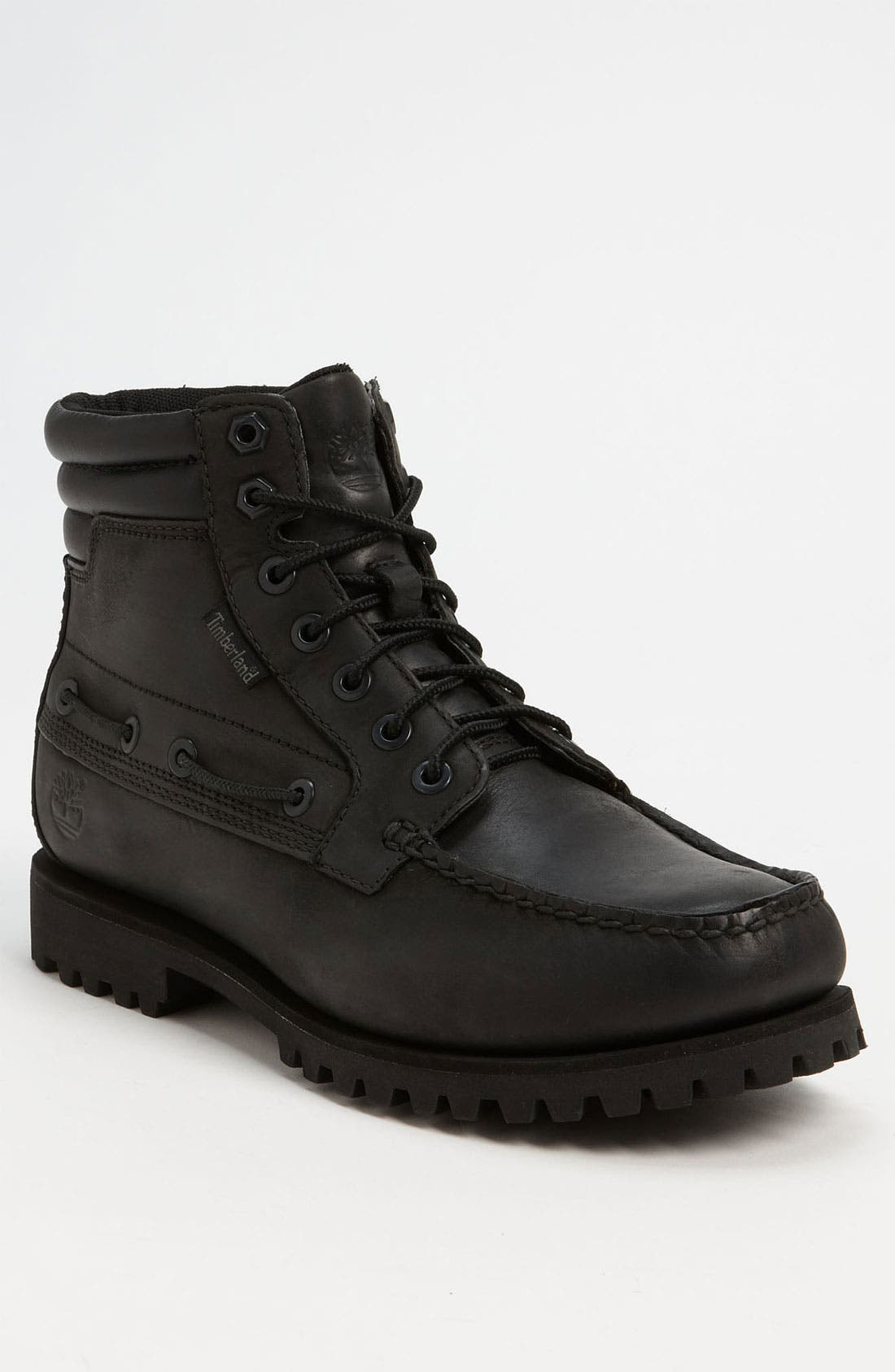 OAKWELL 7 EYE MOC TOE BOOT, Main, color, 001
