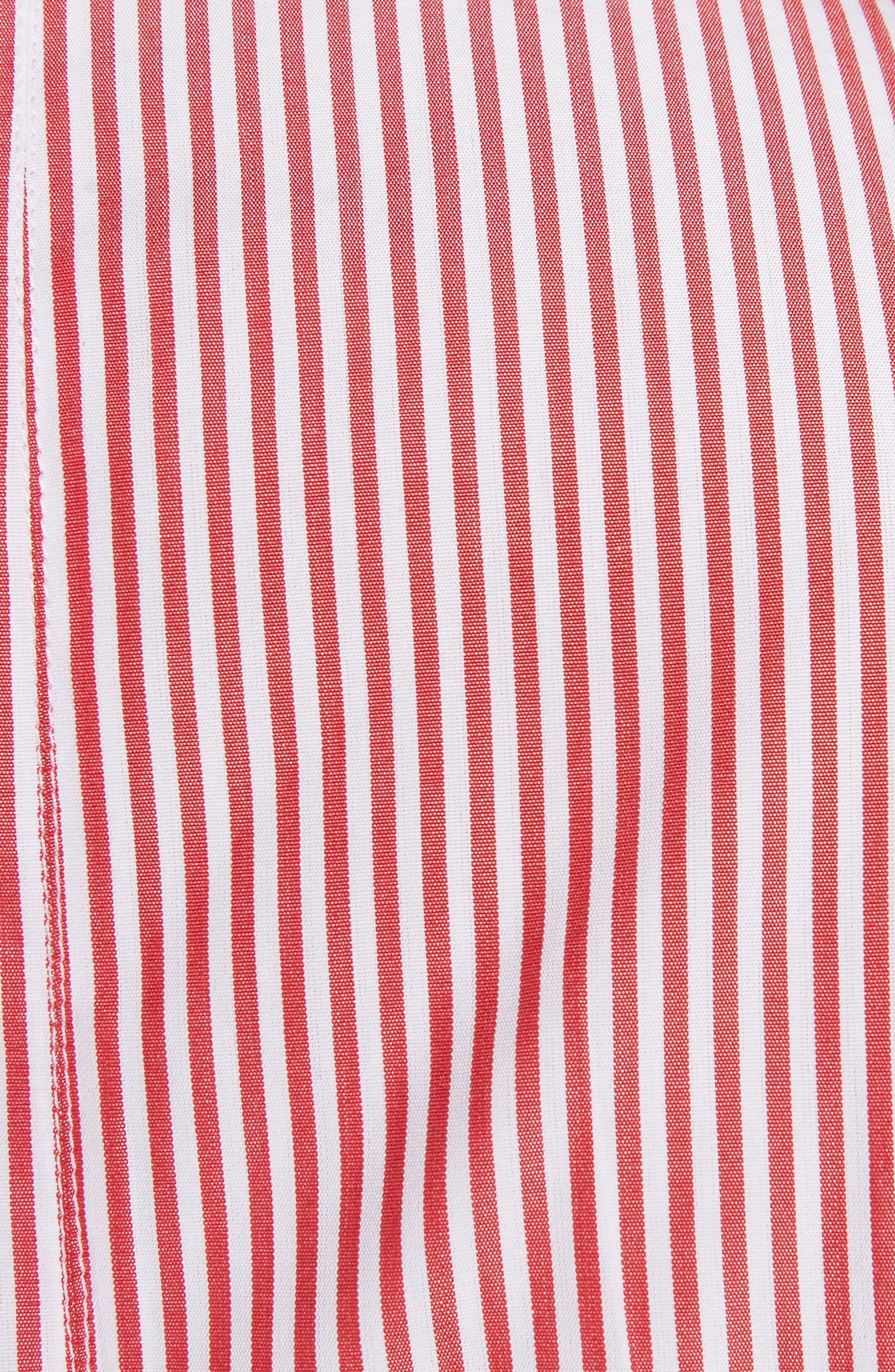 Stripe Poplin Tunic,                             Alternate thumbnail 5, color,
