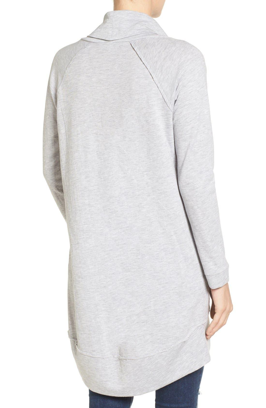 Cowl Neck Tunic Sweatshirt,                             Alternate thumbnail 23, color,