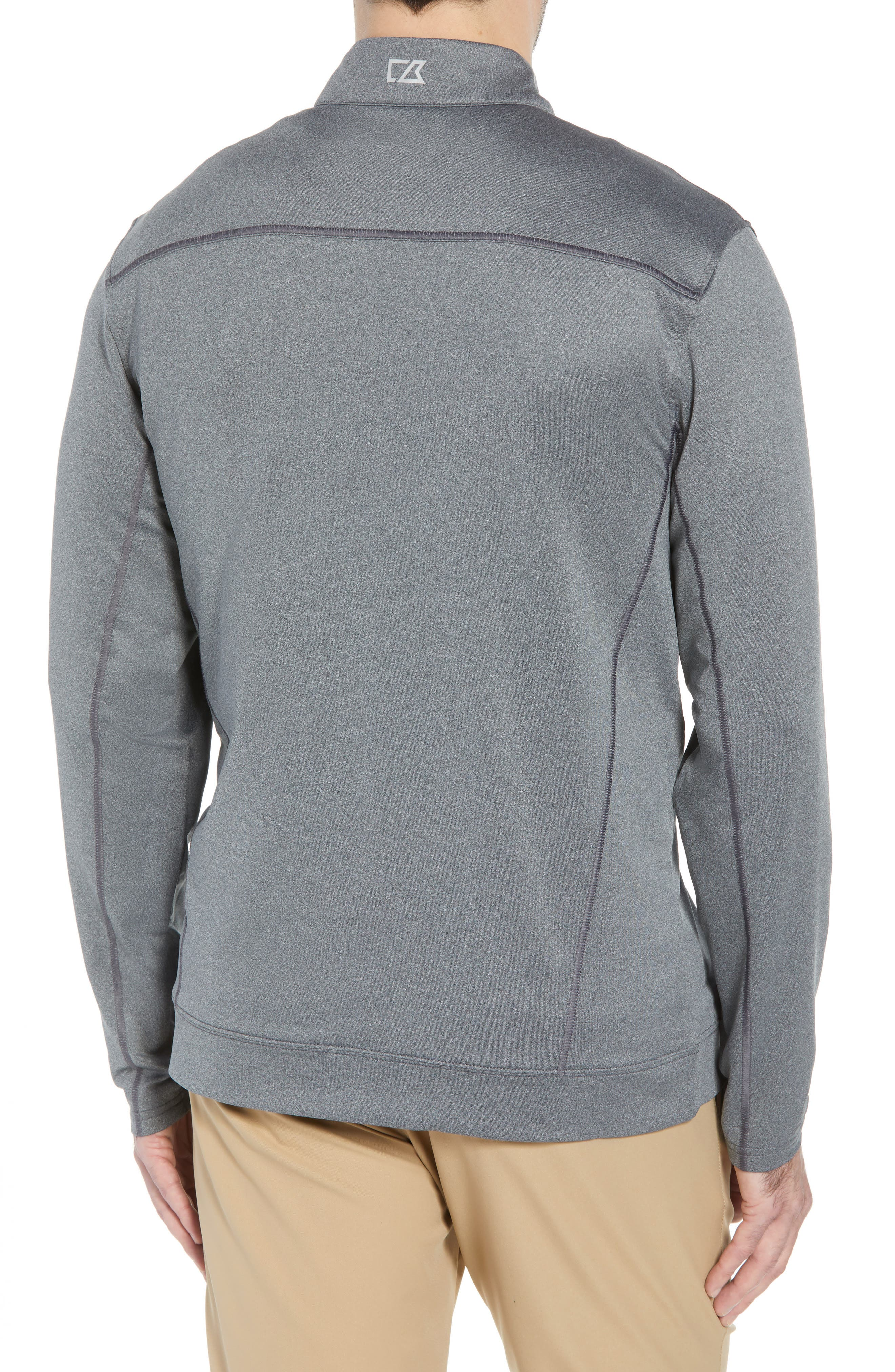 Endurance Tampa Bay Buccaneers Regular Fit Pullover,                             Alternate thumbnail 2, color,                             CHARCOAL HEATHER