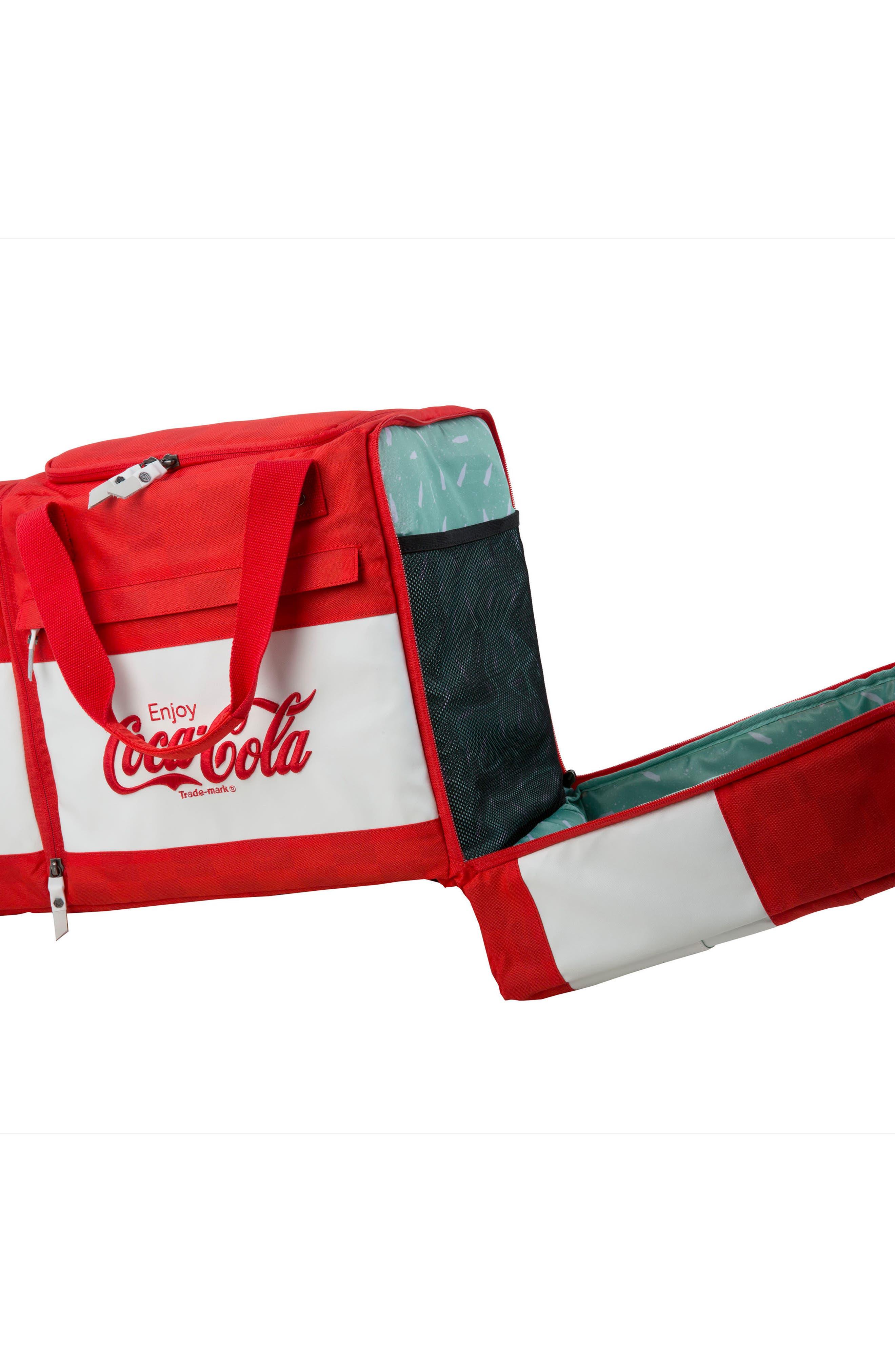 Coca Cola Sneaker Duffel Bag,                             Alternate thumbnail 4, color,                             600