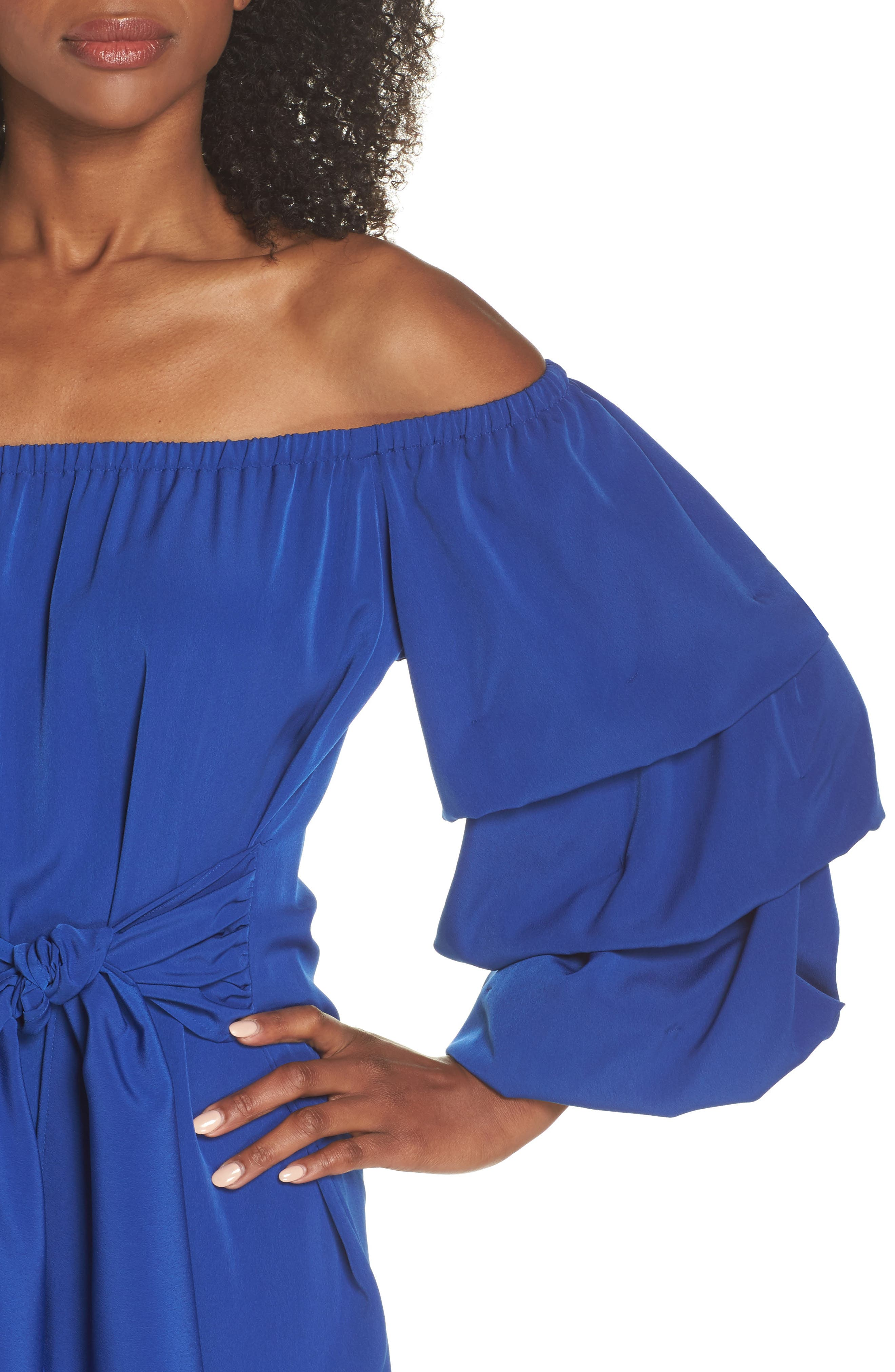 Off the Shoulder Tiered Sleeve Dress,                             Alternate thumbnail 11, color,