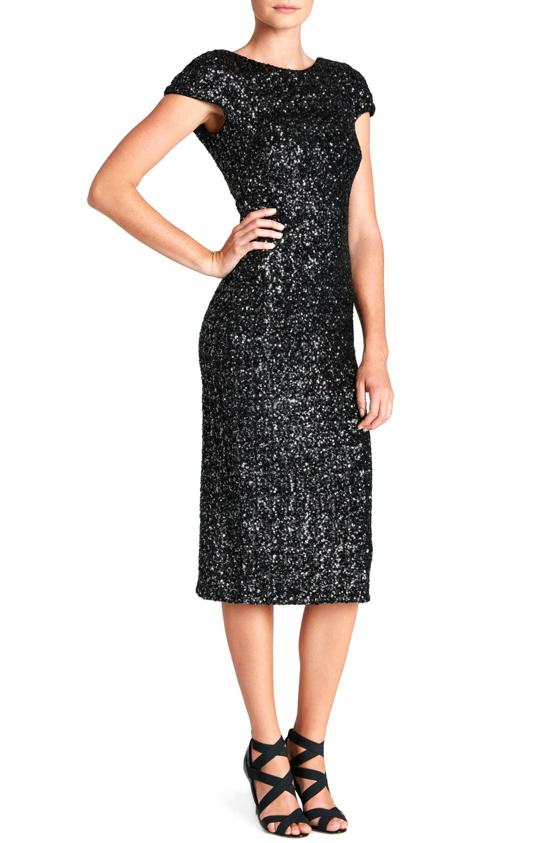 'Marcella' Open Back Sequin Body-Con Dress,                             Main thumbnail 2, color,