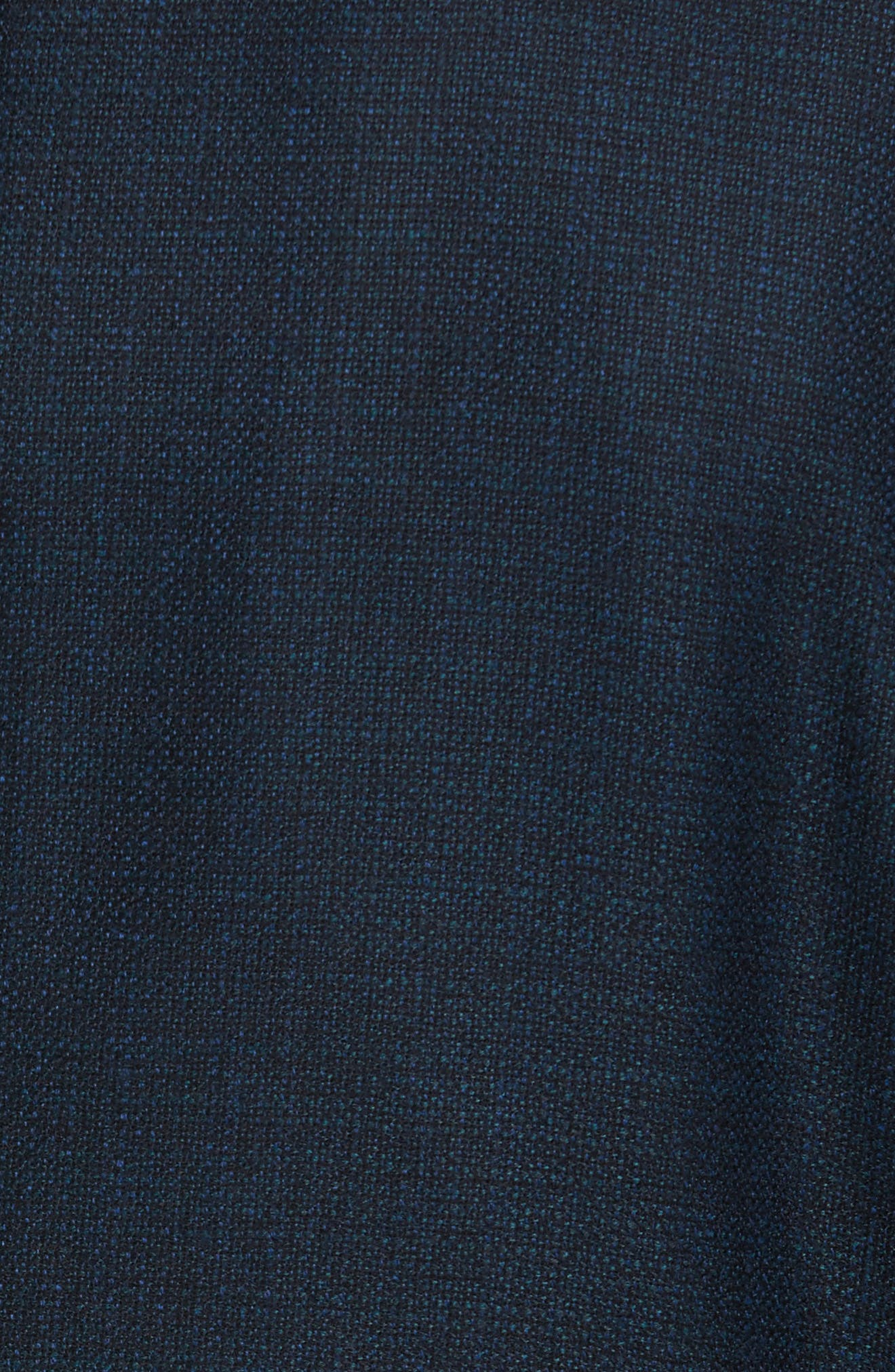 Kyle Trim Fit Check Wool Sport Coat,                             Alternate thumbnail 5, color,                             475