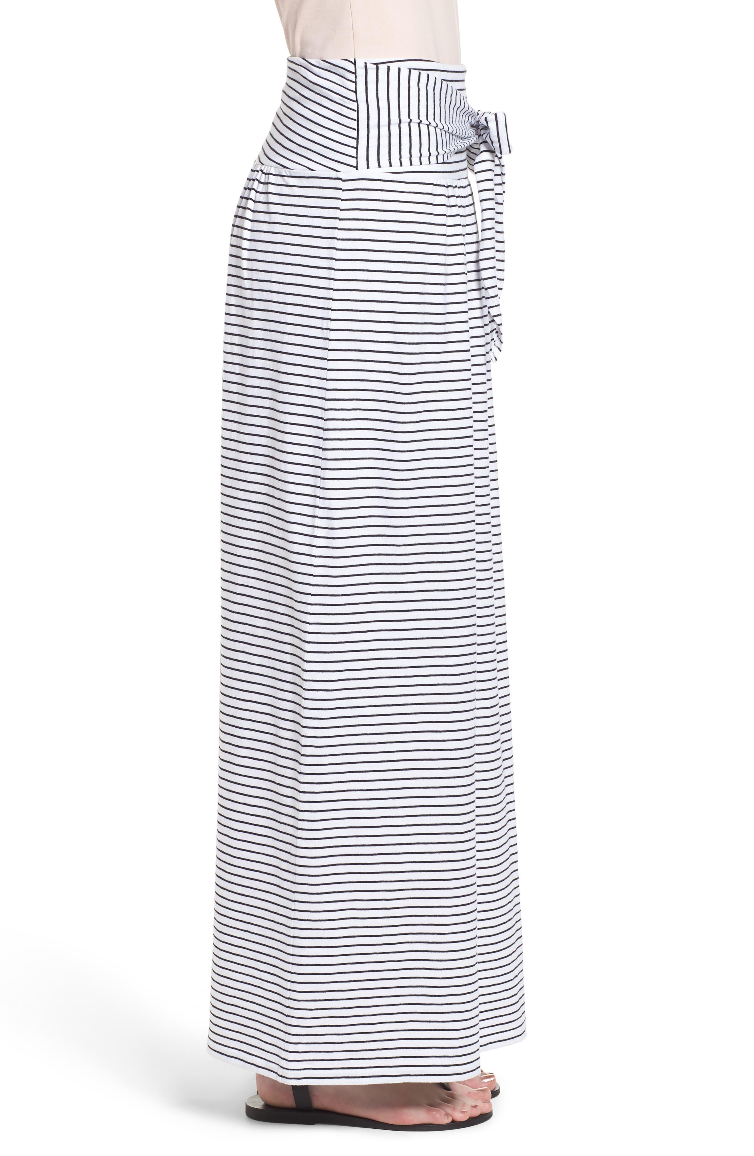 Tie Front Cotton Maxi Skirt,                             Alternate thumbnail 12, color,