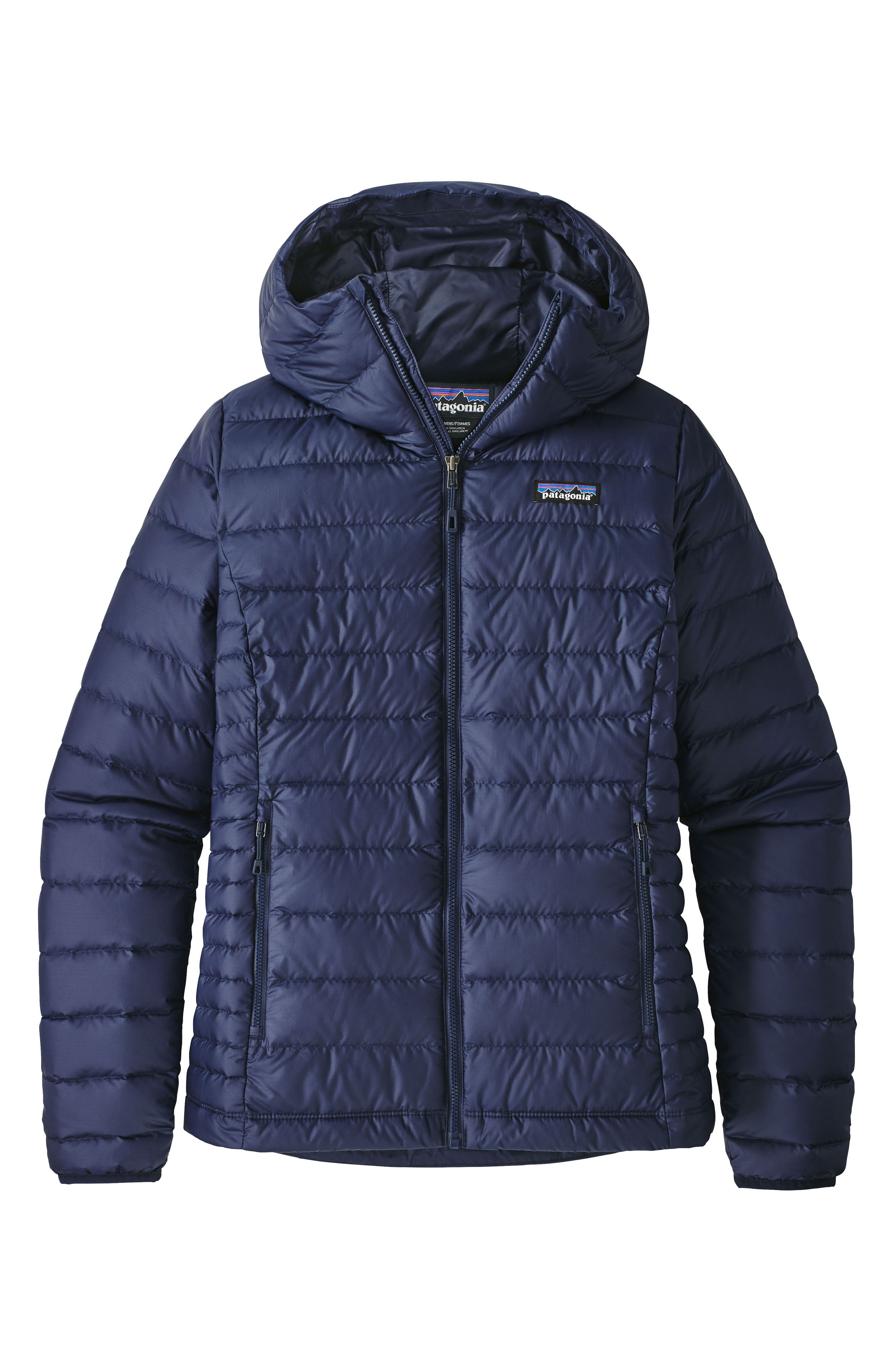 Patagonia Quilted Water Resistant Down Coat, Blue