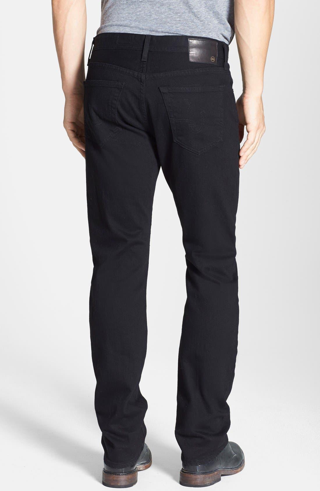 Graduate Slim Straight Leg Jeans,                             Alternate thumbnail 3, color,                             BLACKBIRD