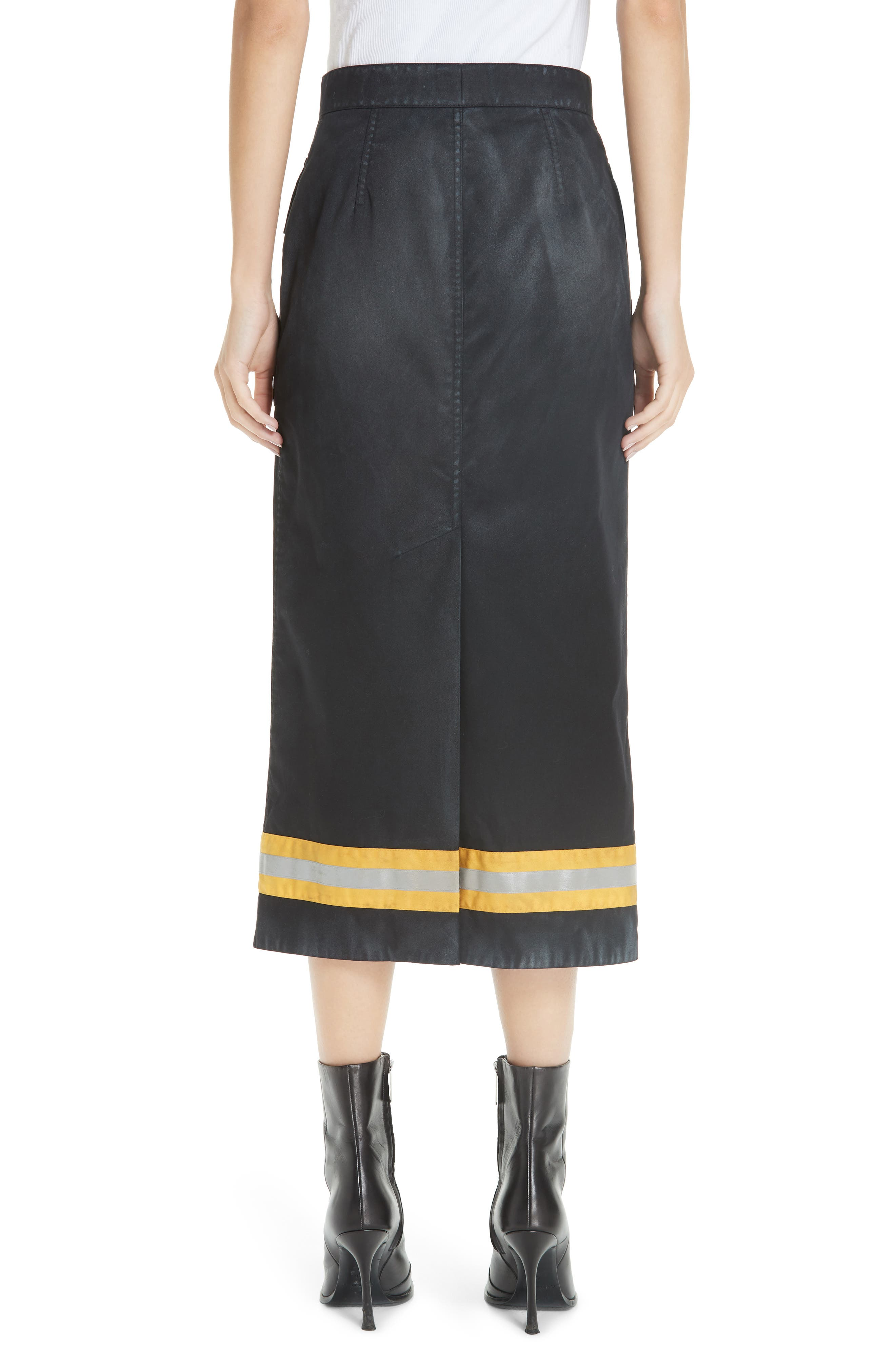 Fireman Skirt,                             Alternate thumbnail 2, color,                             BLACK