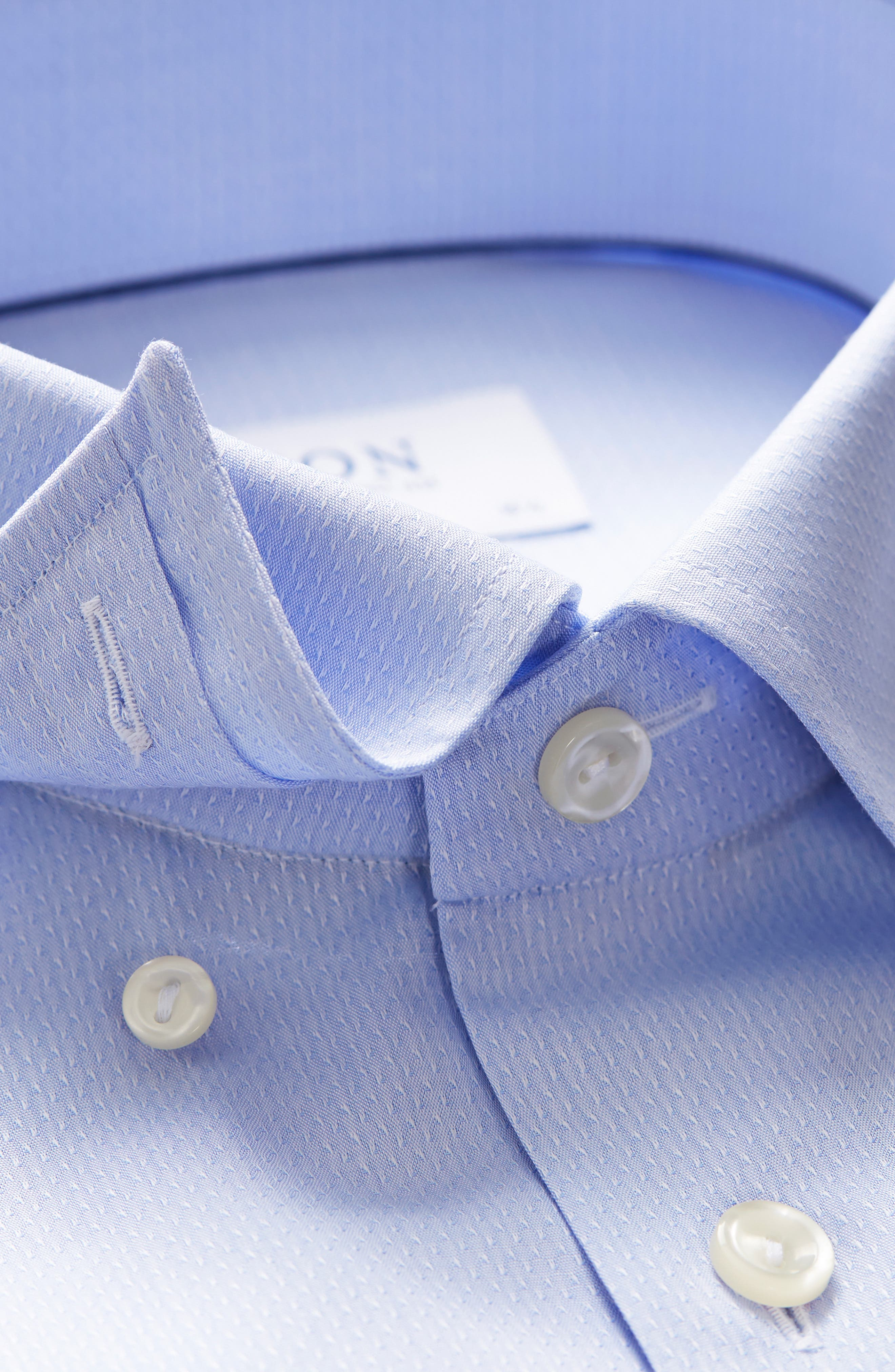 Contemporary Fit Solid Dress Shirt,                             Alternate thumbnail 3, color,                             BLUE