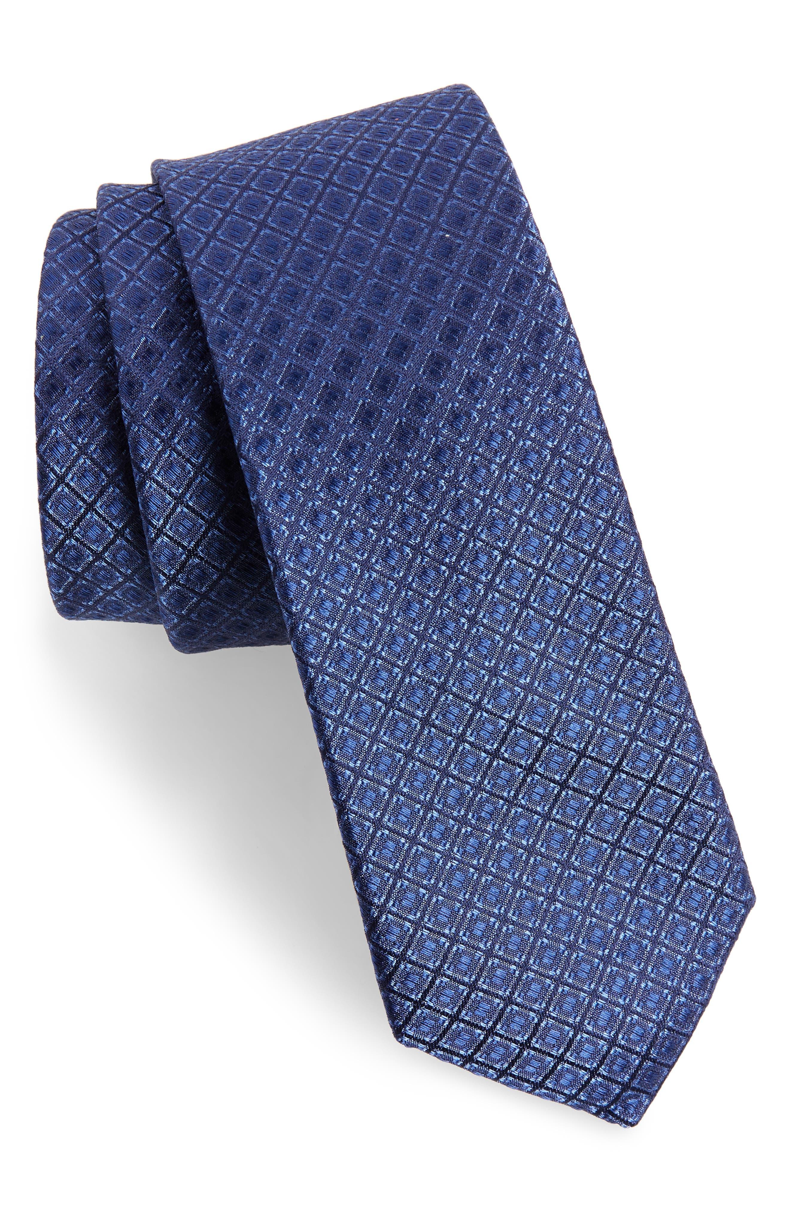 Denberg Check Silk Tie,                             Main thumbnail 1, color,