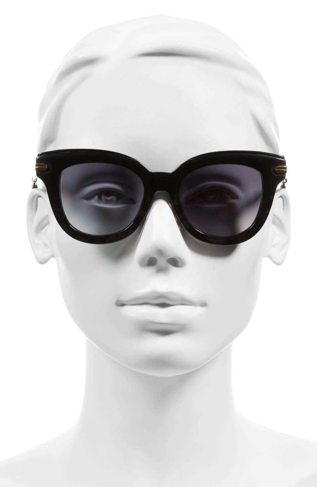 Elliot 48mm Cat Eye Gradient Sunglasses,                             Alternate thumbnail 3, color,                             001