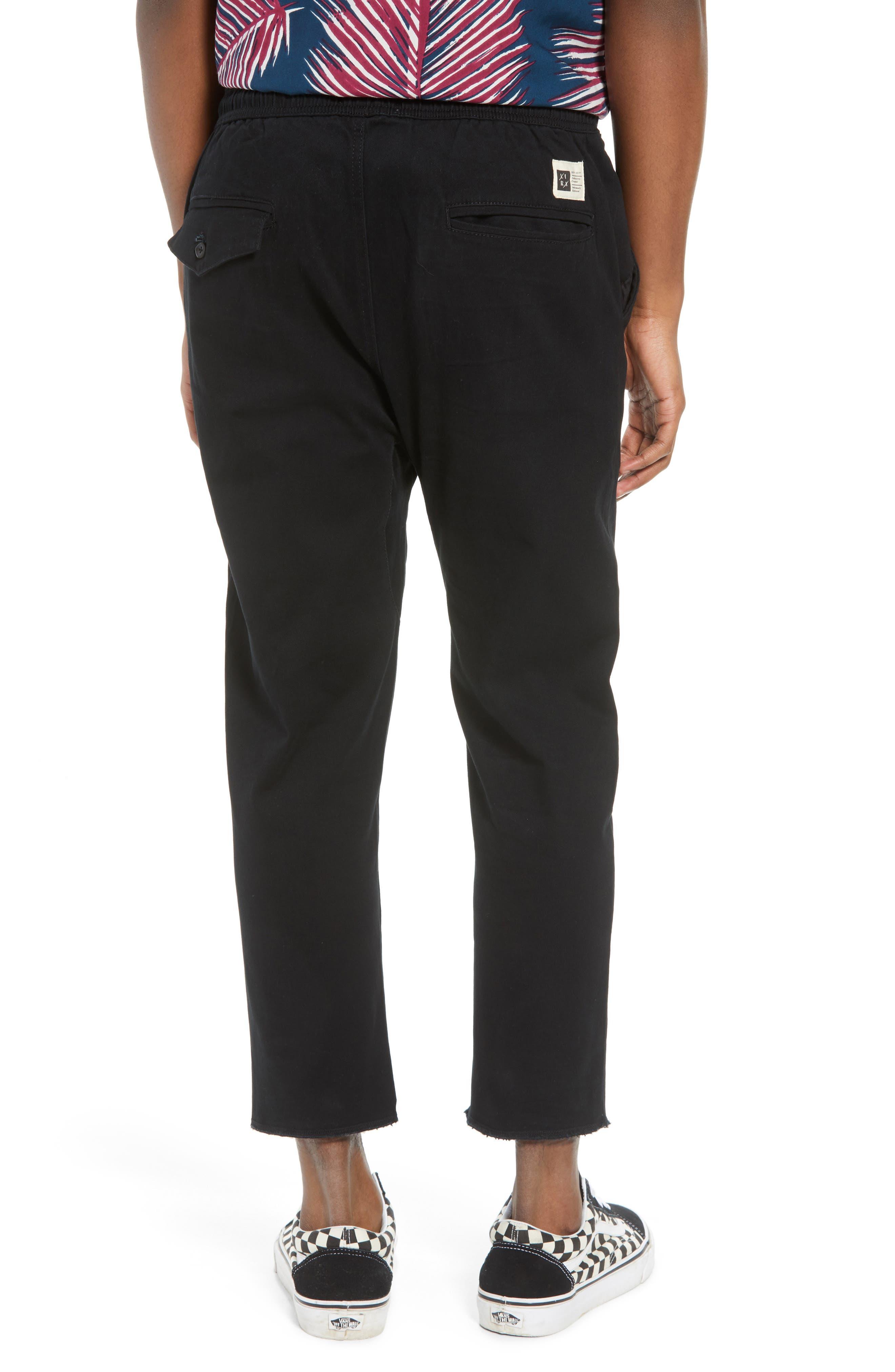 Vacation Slim Fit Crop Pants,                             Alternate thumbnail 2, color,                             BLACK