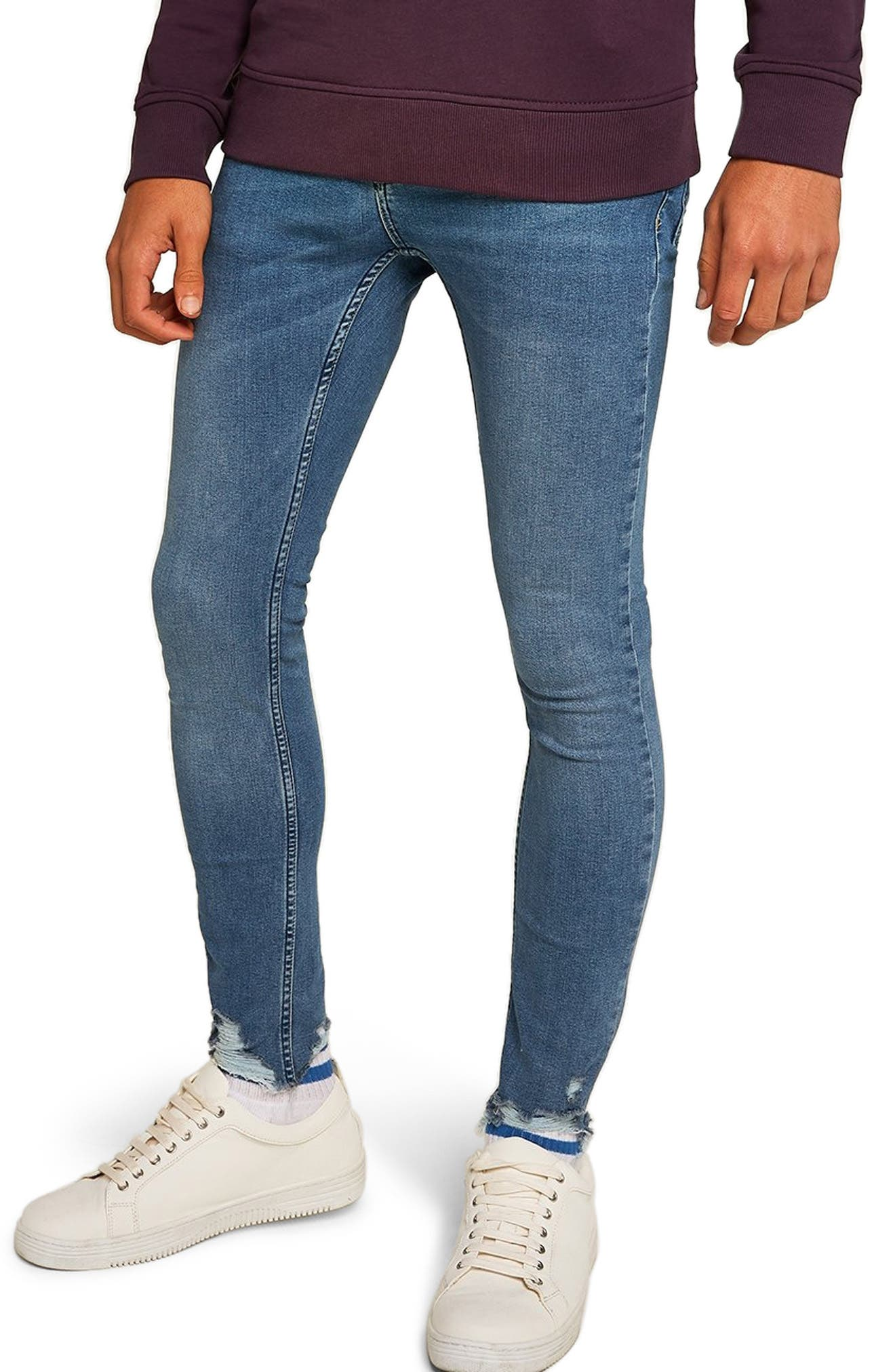 Smokey Spray-On Jeans,                         Main,                         color, BLUE