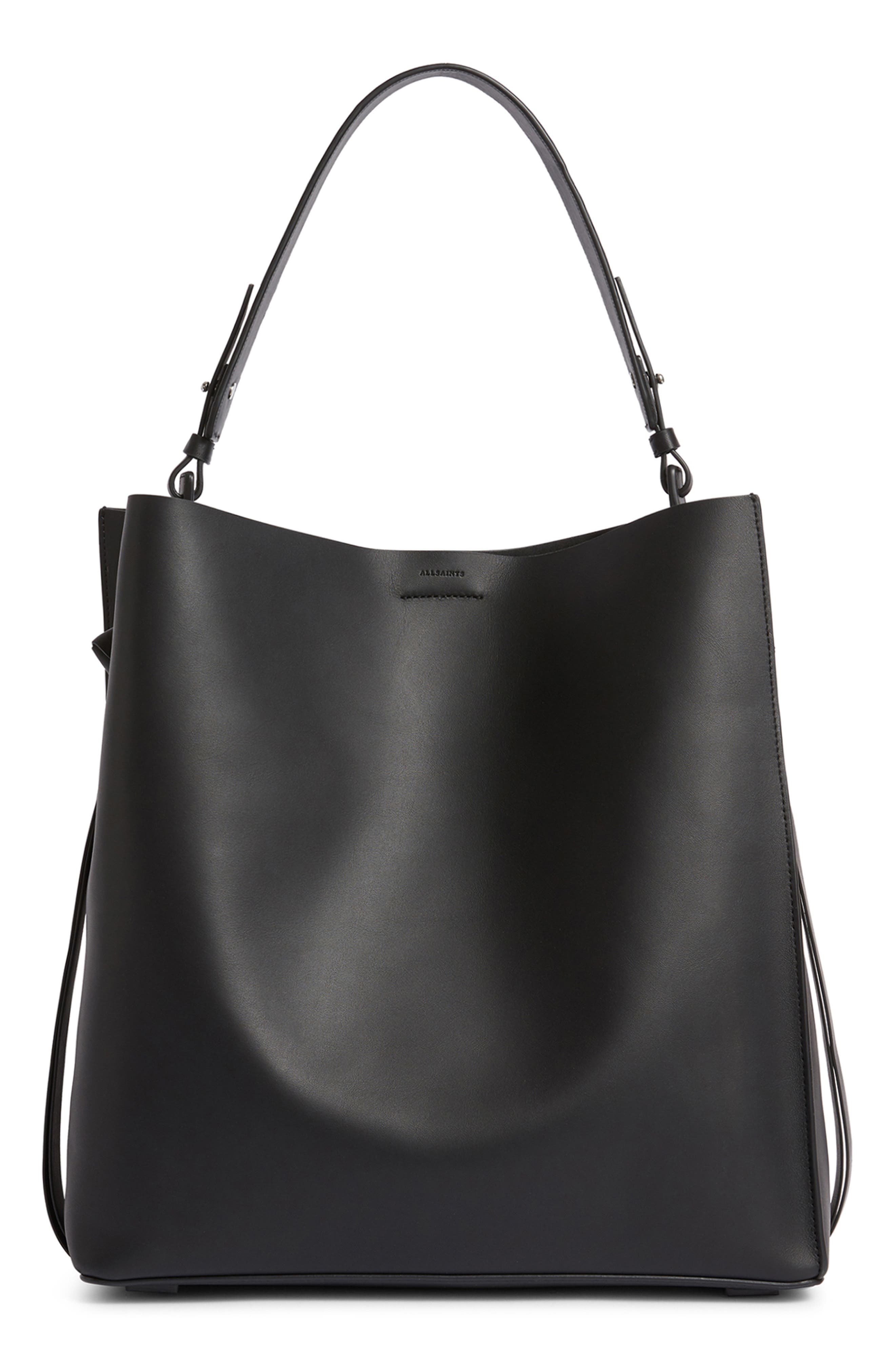 ALLSAINTS Voltaire North/South Leather Tote - Black