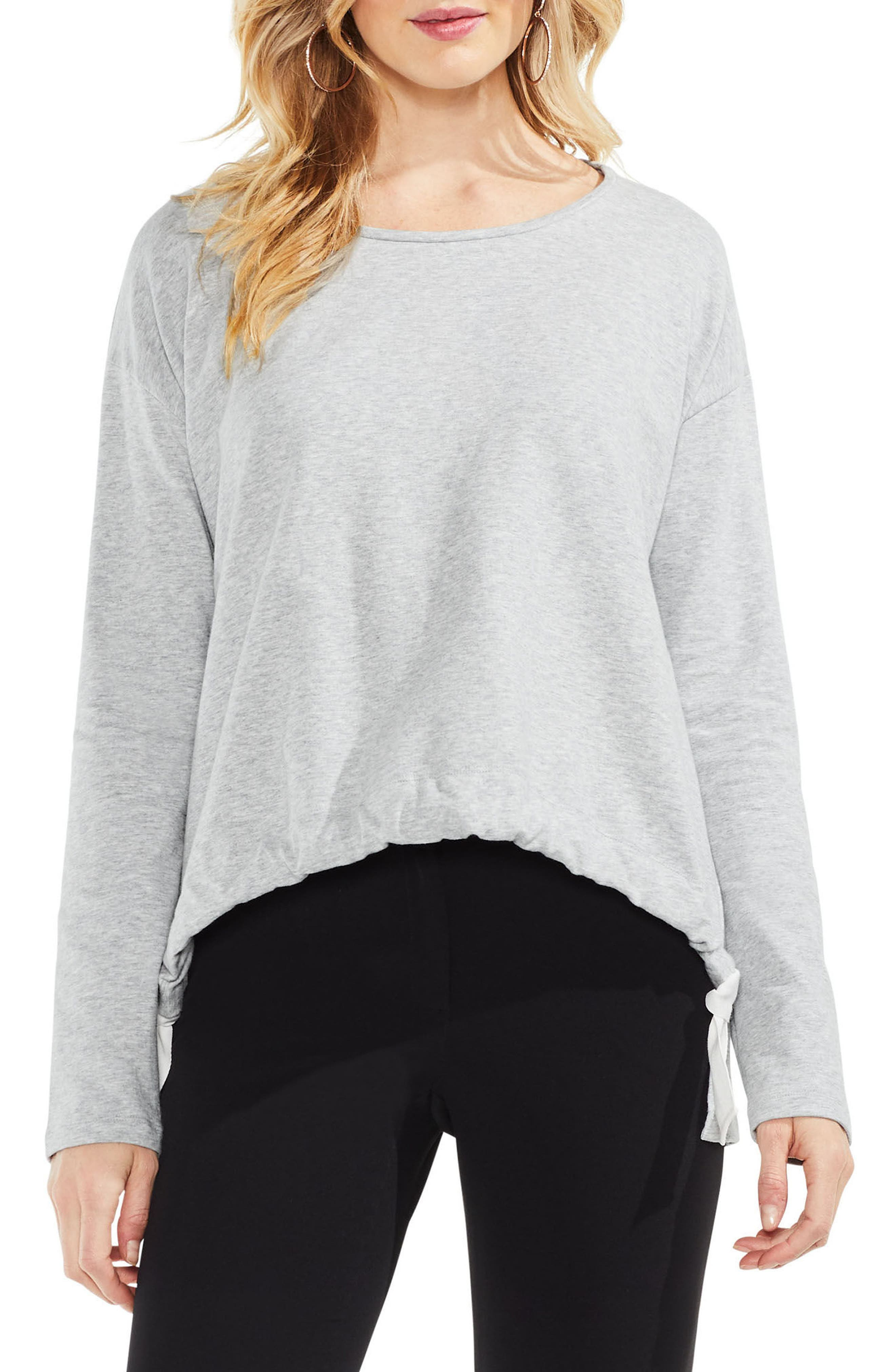 French Terry Drawstring Front Top,                         Main,                         color, 050