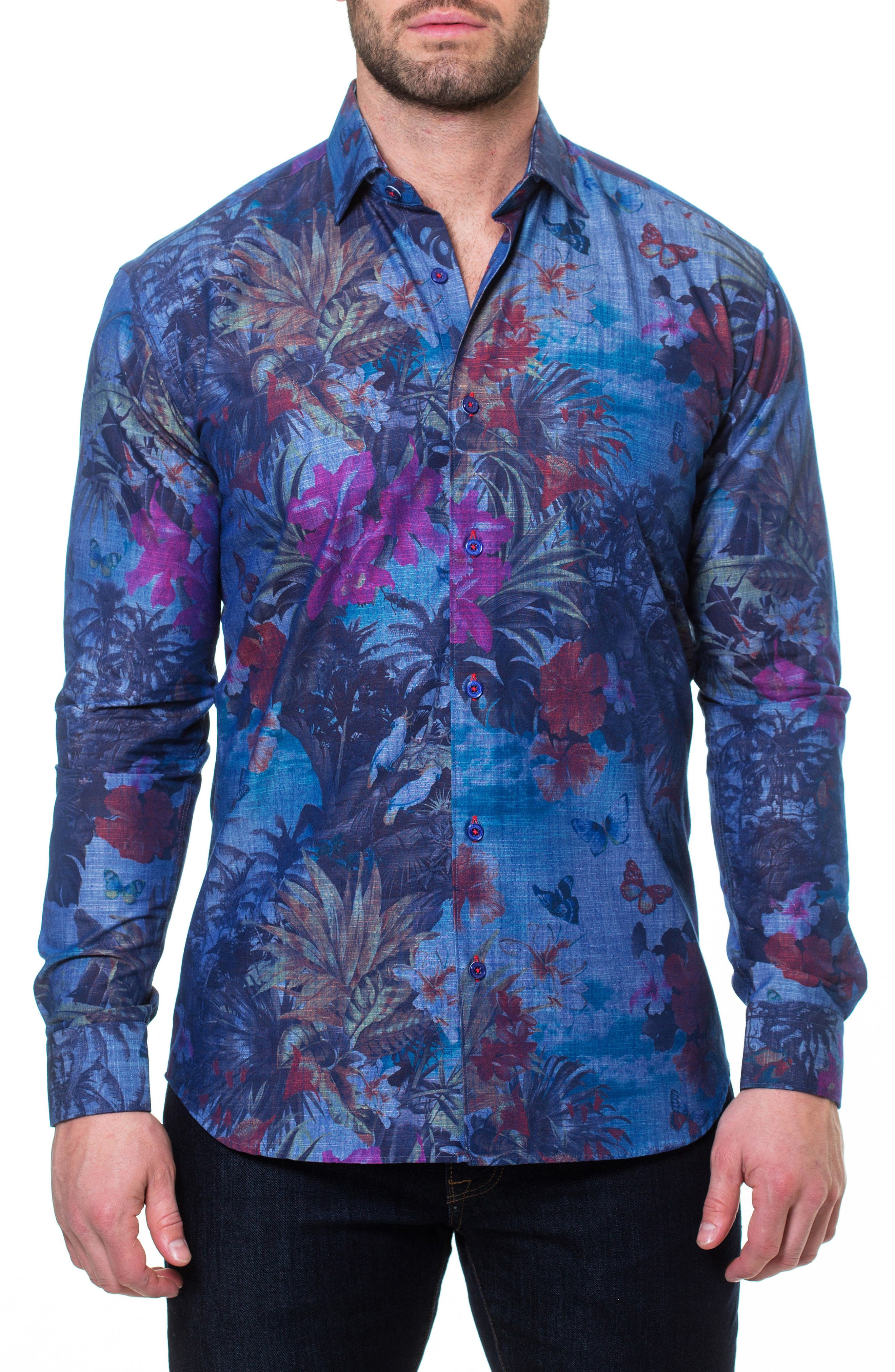 MACEOO,                             Wall Street Paradise Sport Shirt,                             Main thumbnail 1, color,                             420