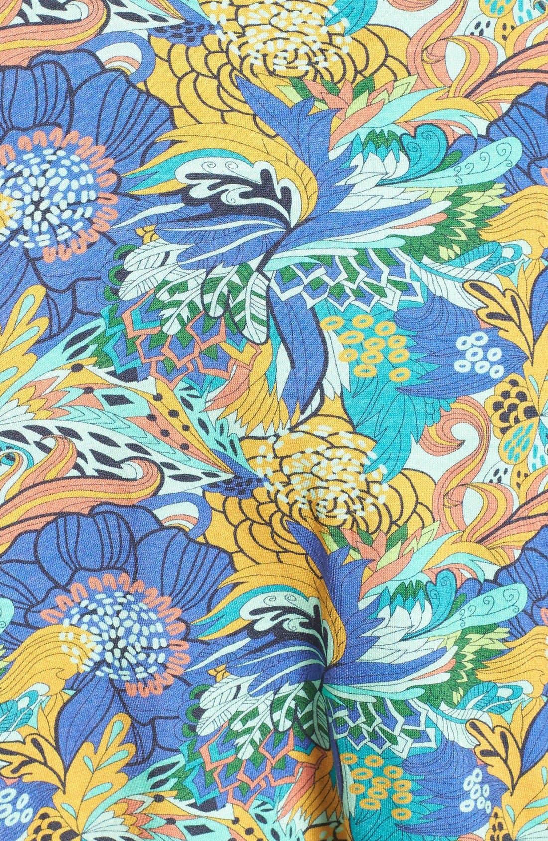 'Bloom Bastic' T-Back Cover-Up Dress,                             Alternate thumbnail 5, color,                             300