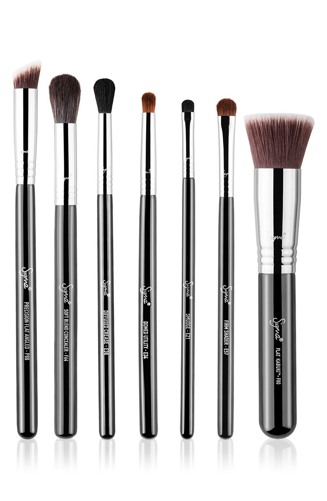 Best of Sigma Beauty Brush Kit,                             Main thumbnail 1, color,                             000