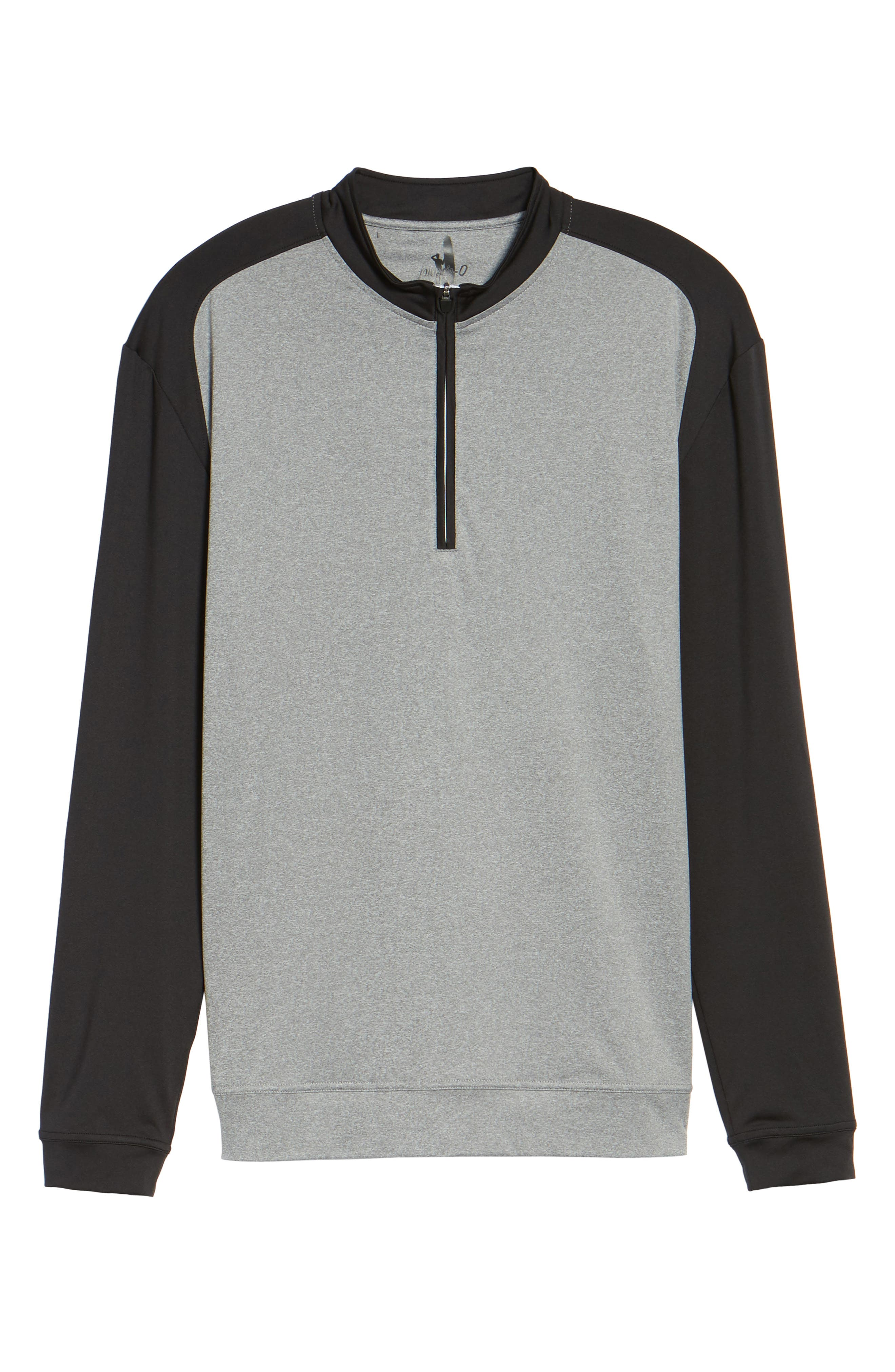 Sway Classic Fit Zip Raglan Pullover,                             Alternate thumbnail 6, color,                             001