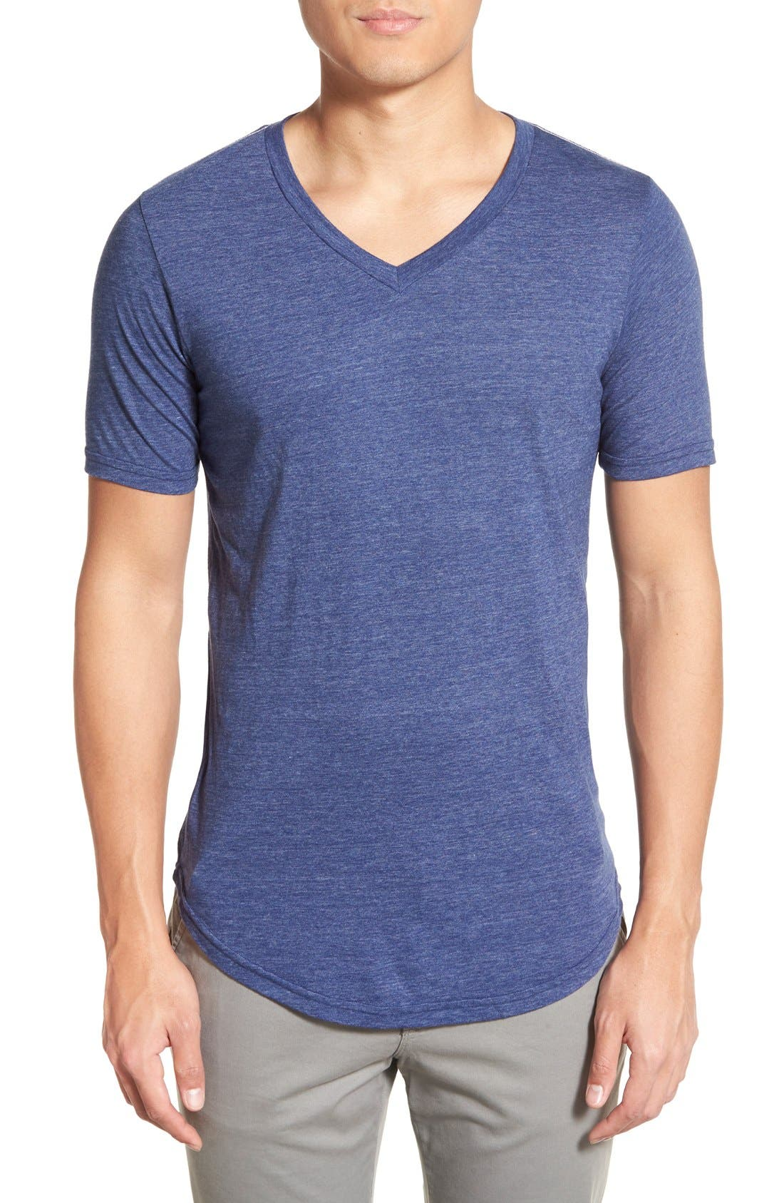 Scallop Triblend V-Neck T-Shirt,                             Main thumbnail 19, color,