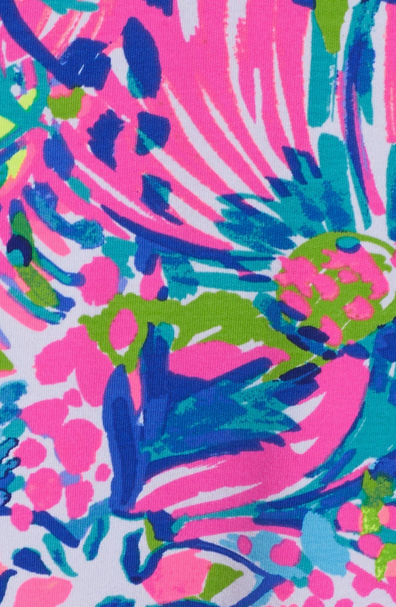 Tammy UPF 50+ Shift Dress,                             Alternate thumbnail 6, color,                             MULTI GUMBO LIMBO