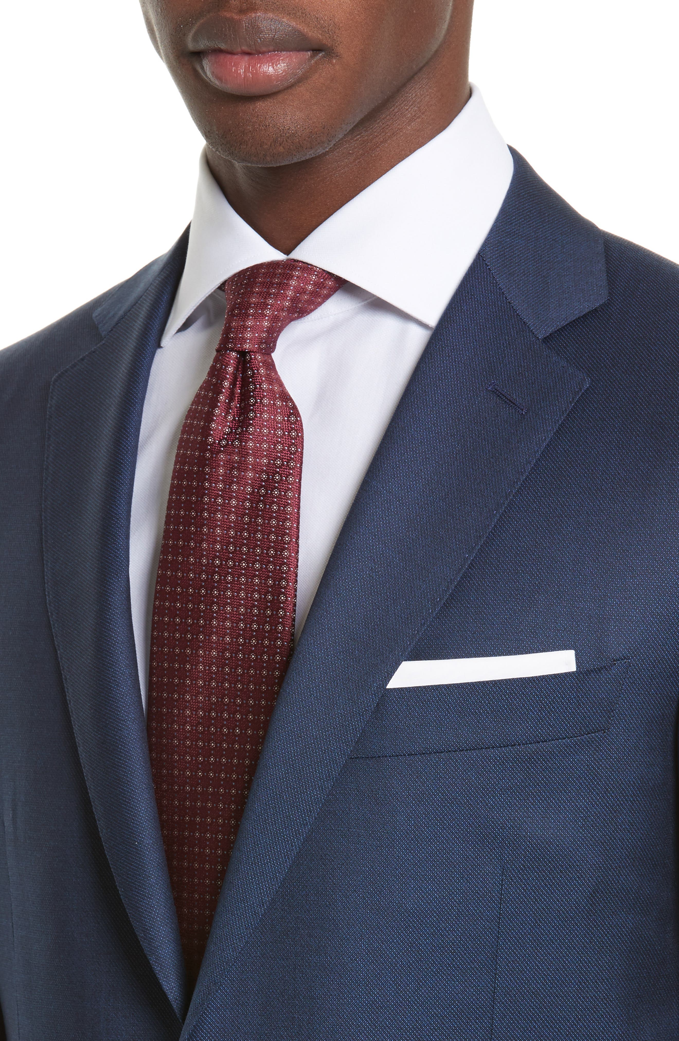 Classic Fit Solid Wool Suit,                             Alternate thumbnail 4, color,                             400