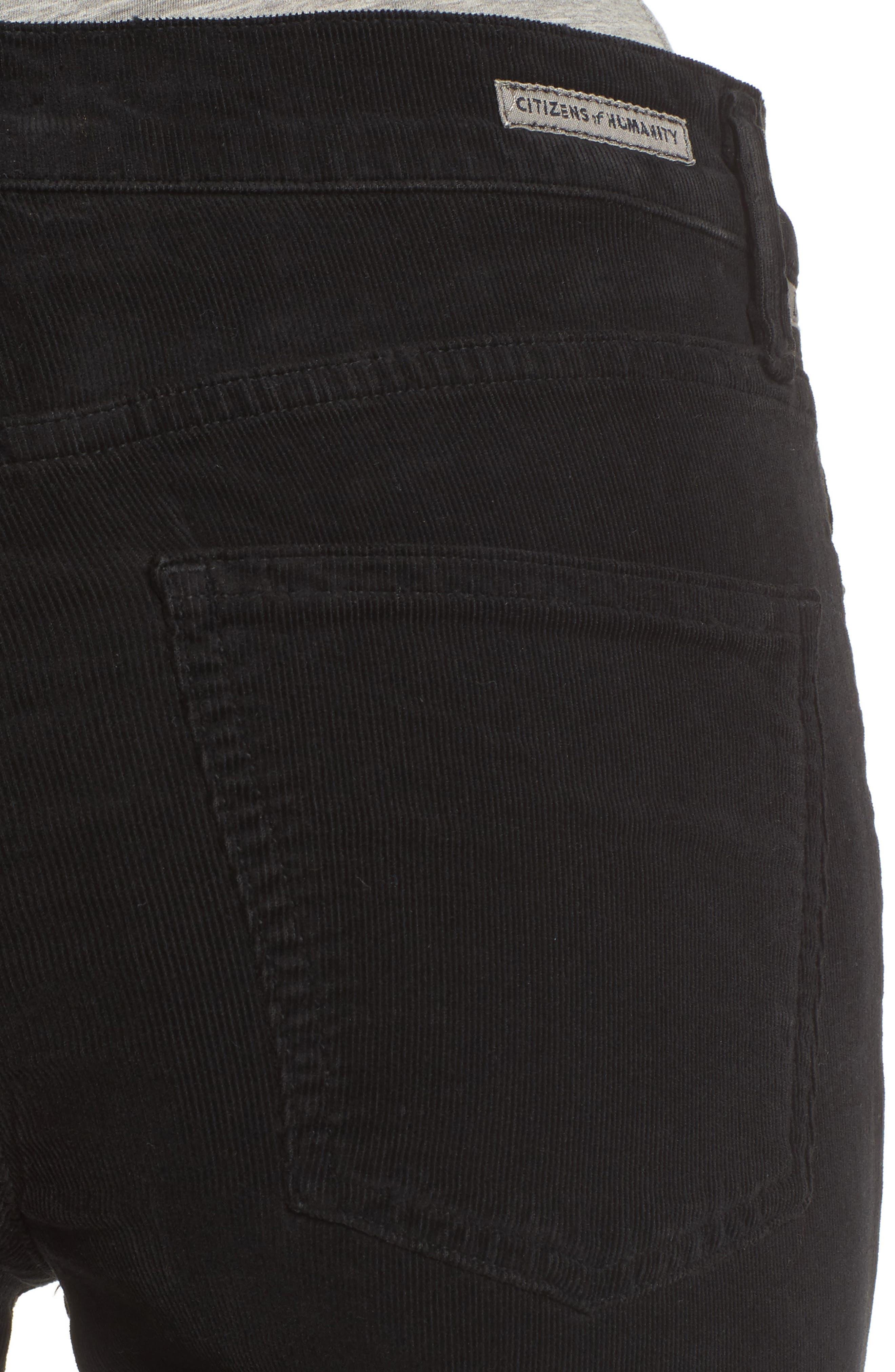 Rocket High Waist Skinny Corduroy Pants,                             Alternate thumbnail 4, color,                             006
