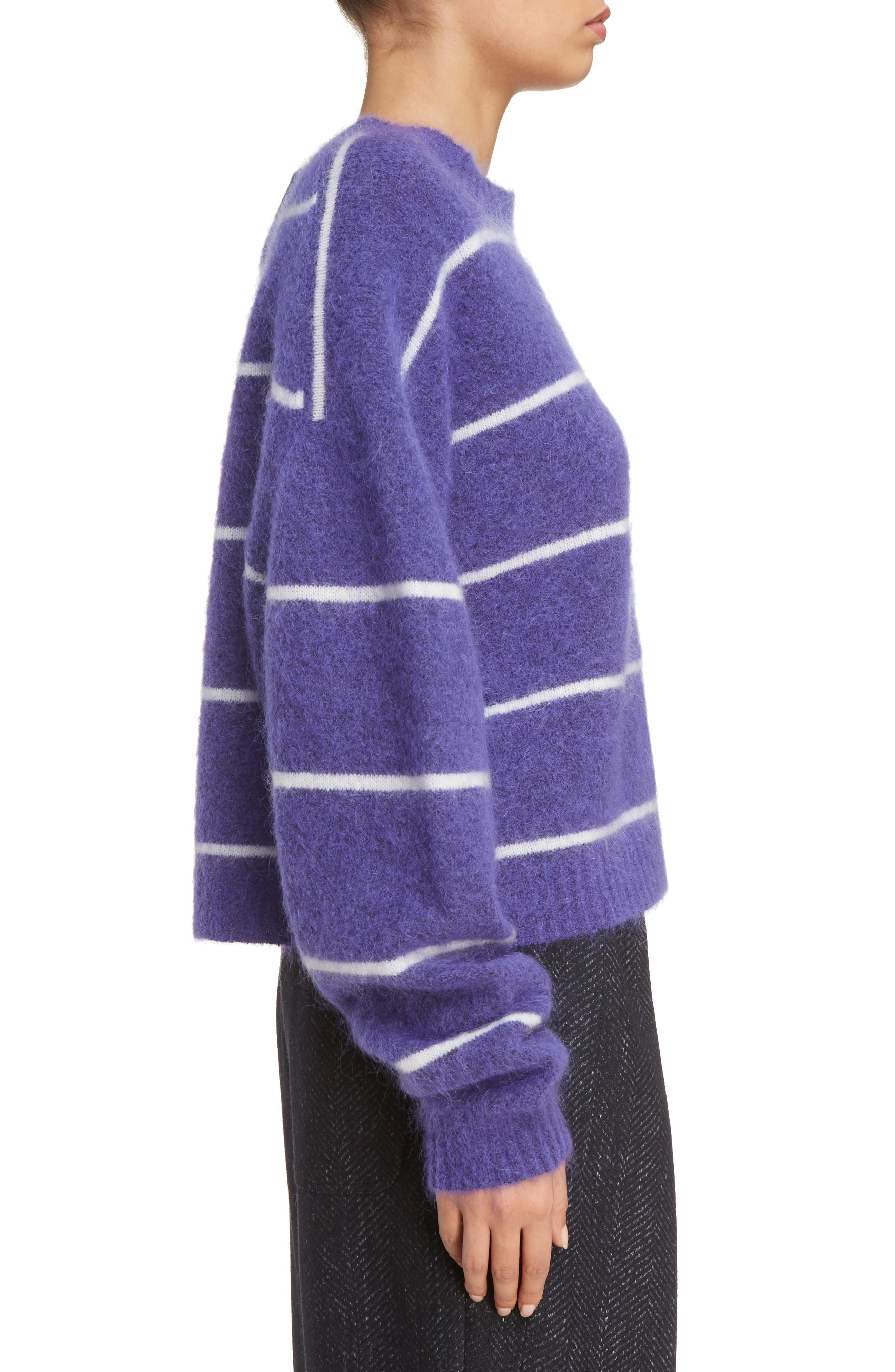 Rhira Stripe Crewneck Sweater,                             Alternate thumbnail 3, color,                             500