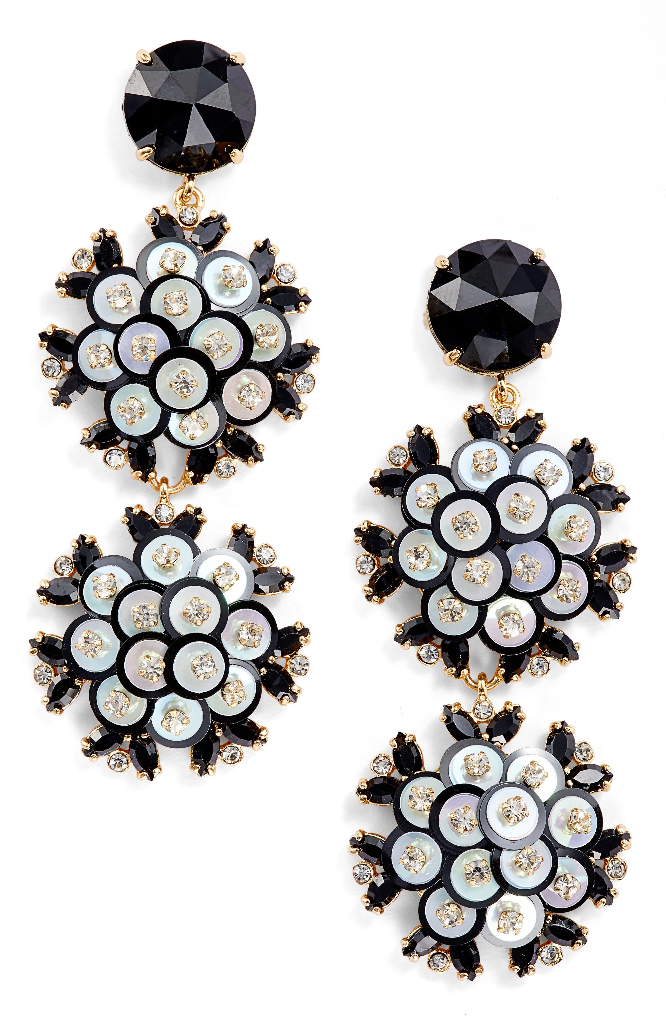 be bold triple drop earrings,                         Main,                         color,