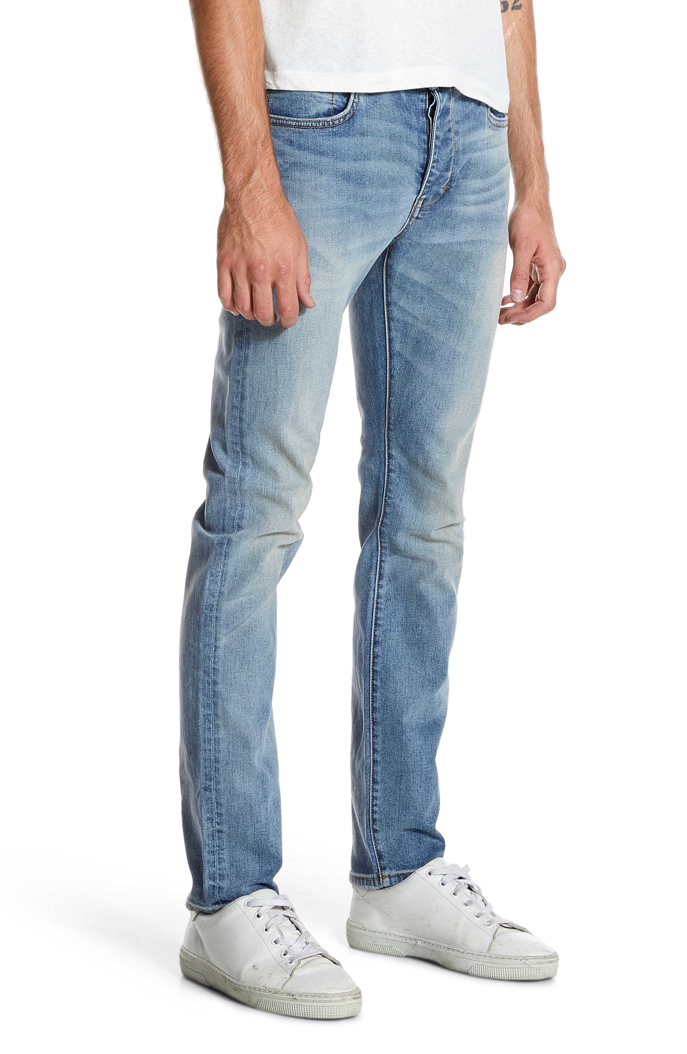 Iggy Skinny Fit Jeans,                             Alternate thumbnail 3, color,                             ATOMIC AIRWASH
